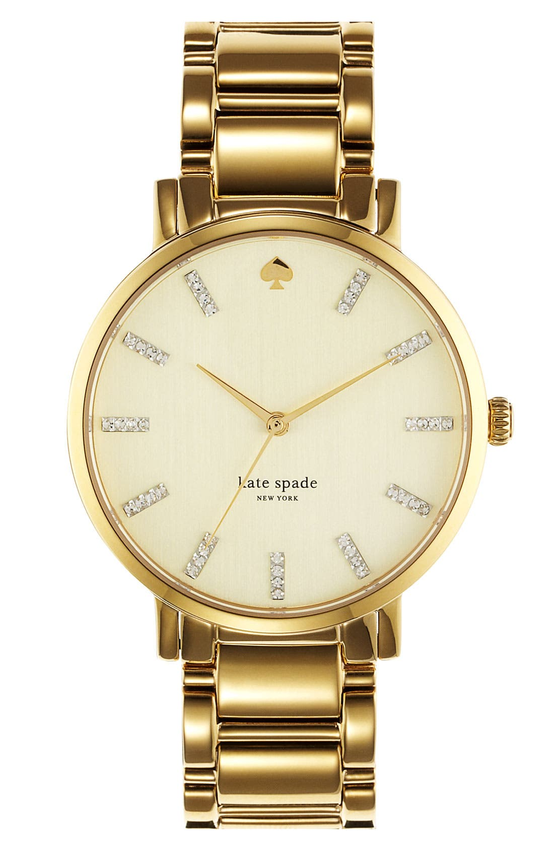Main Image - kate spade new york 'gramercy' round bracelet watch, 38mm