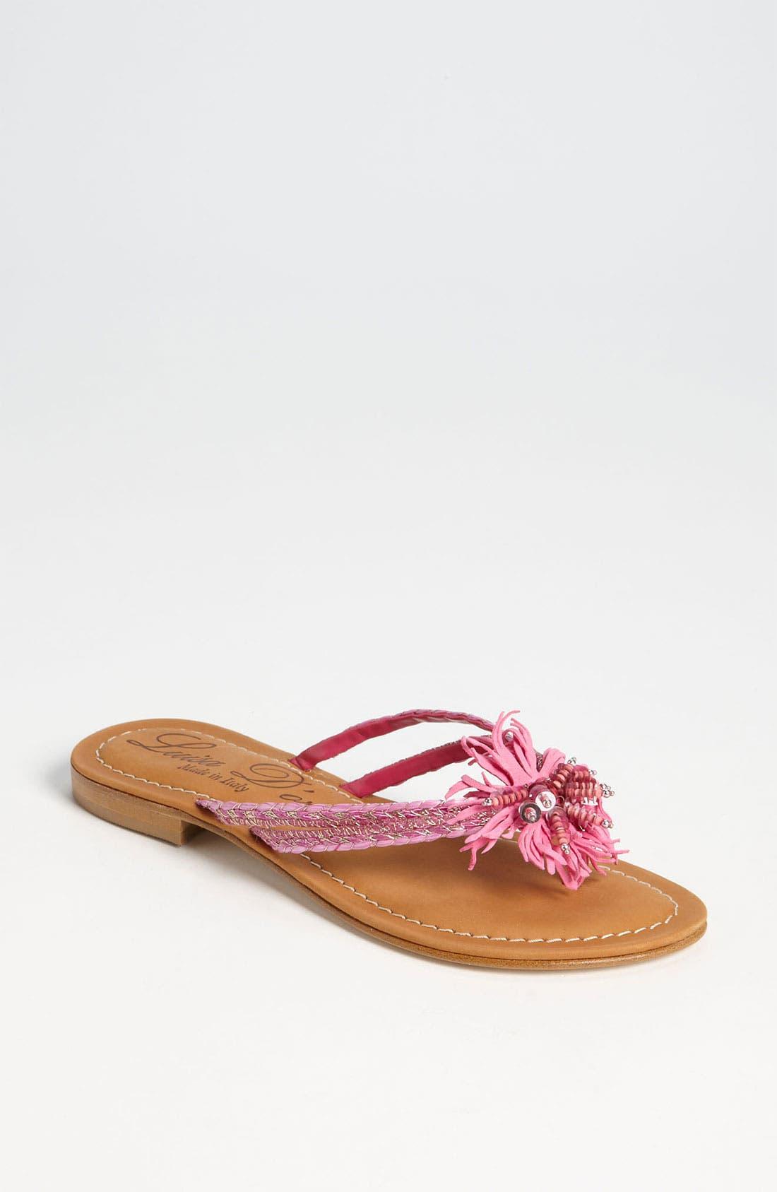 'Garland' Sandal,                         Main,                         color, Fuchsia