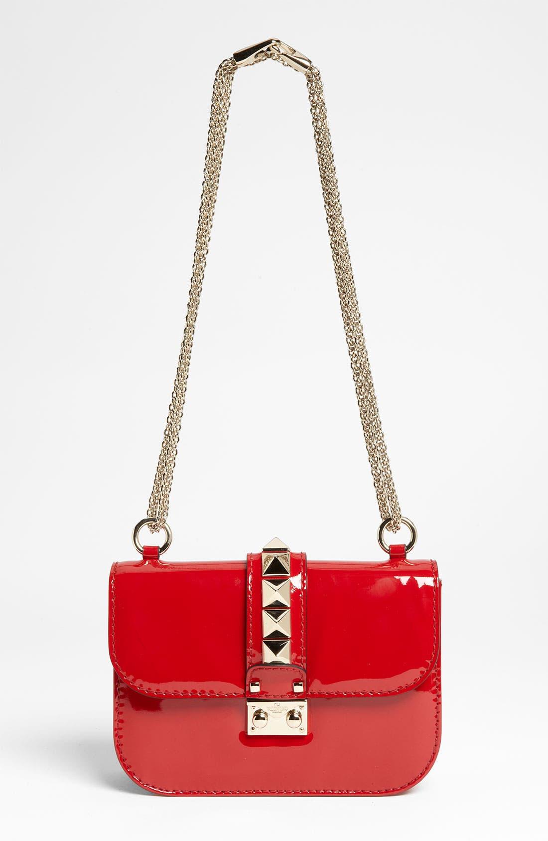 Alternate Image 1 Selected - Valentino 'Rockstud - Small Lock' Leather Shoulder Bag