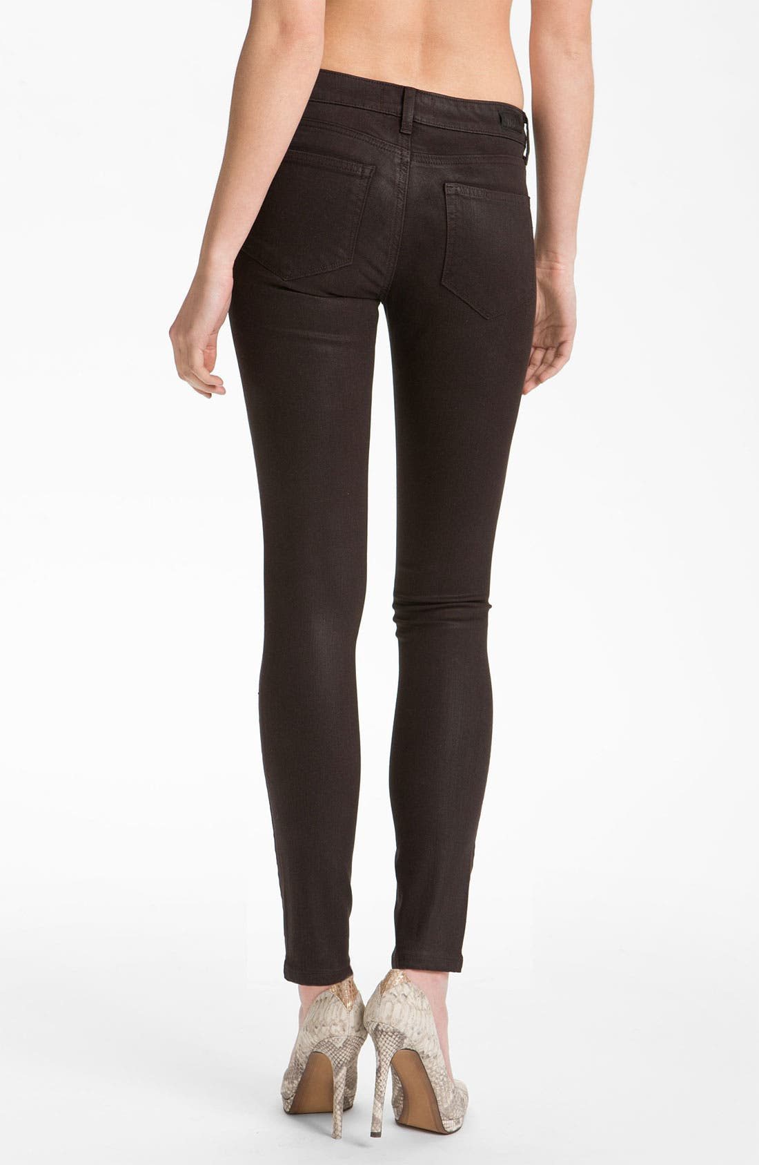 Alternate Image 2  - Paige Denim 'Verdugo' Coated Skinny Jeans (Java)