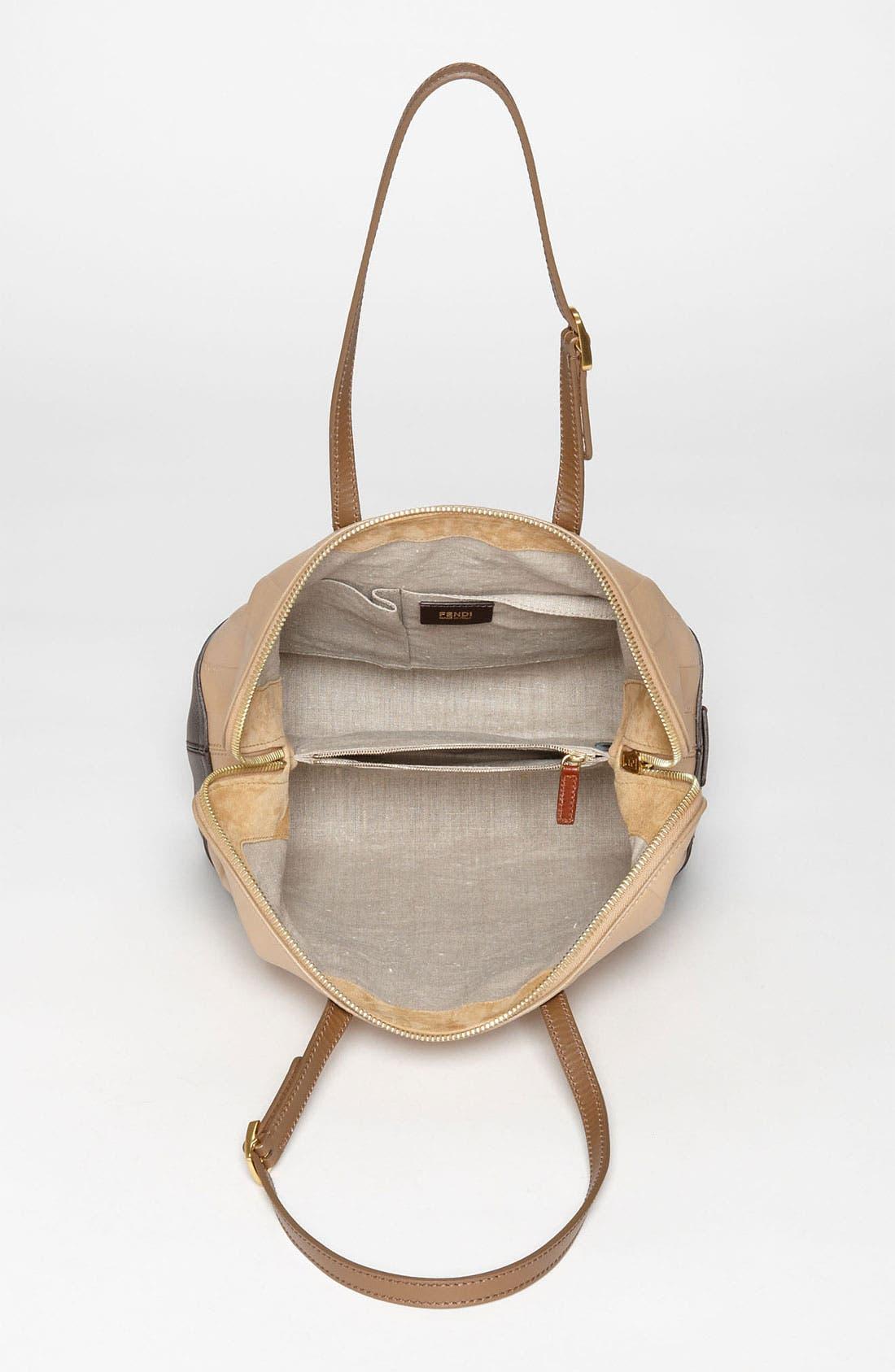 Alternate Image 3  - Fendi 'Paris Pequin - 2-Way' Leather Shopper