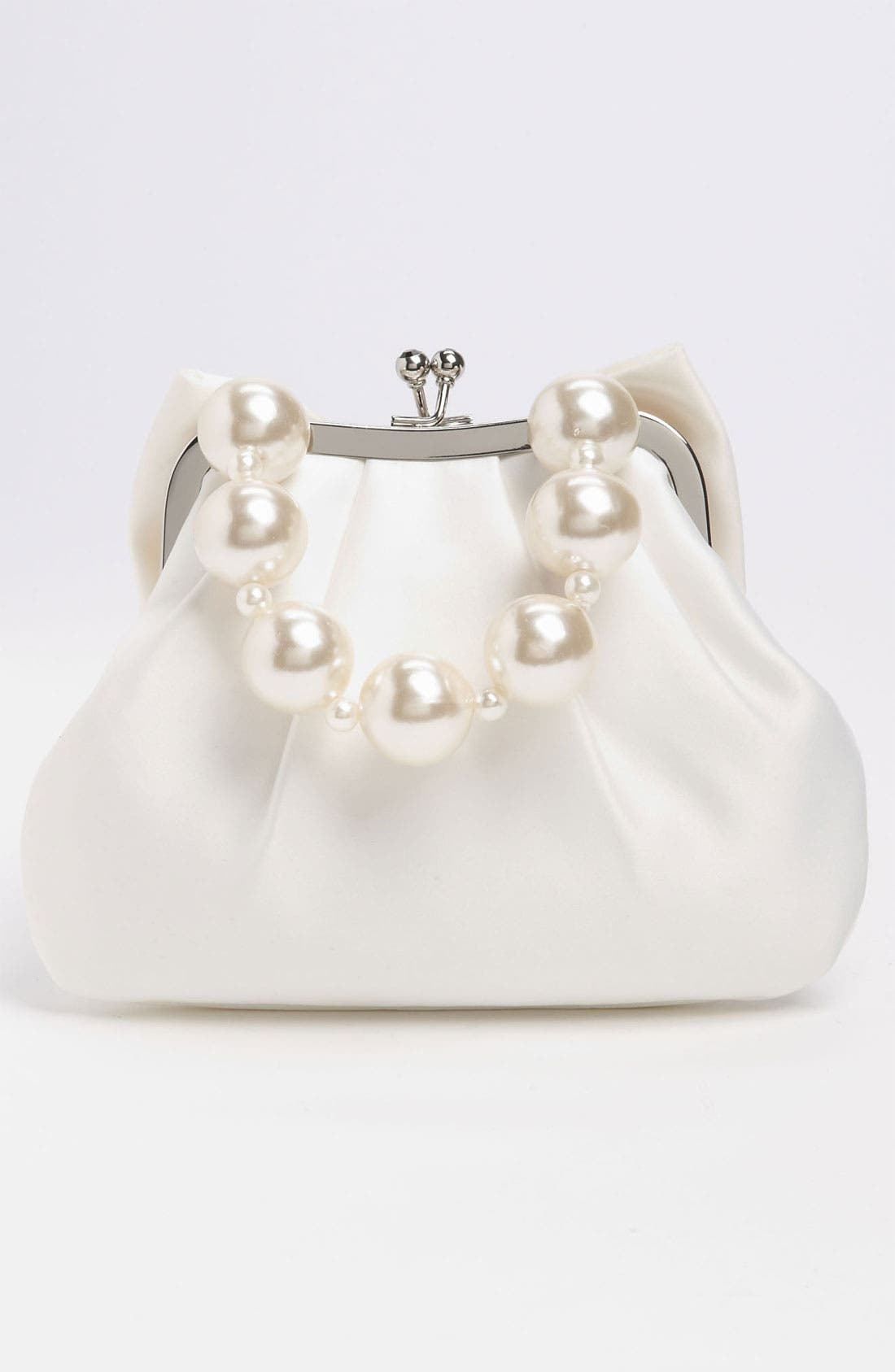 Alternate Image 4  - Sondra Roberts 'Large' Satin Bow Clutch