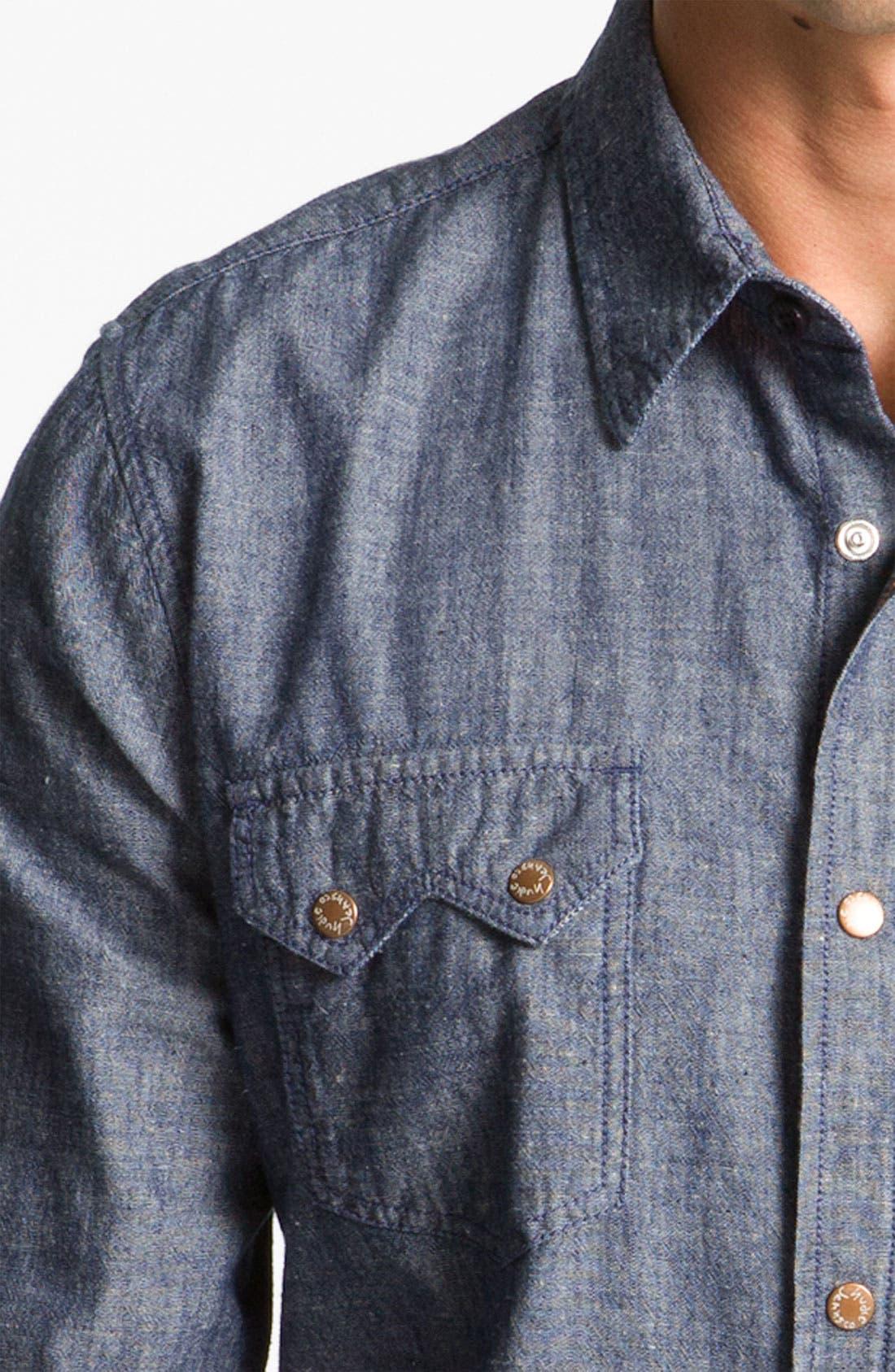Alternate Image 3  - Nudie 'Gusten' Chambray Shirt