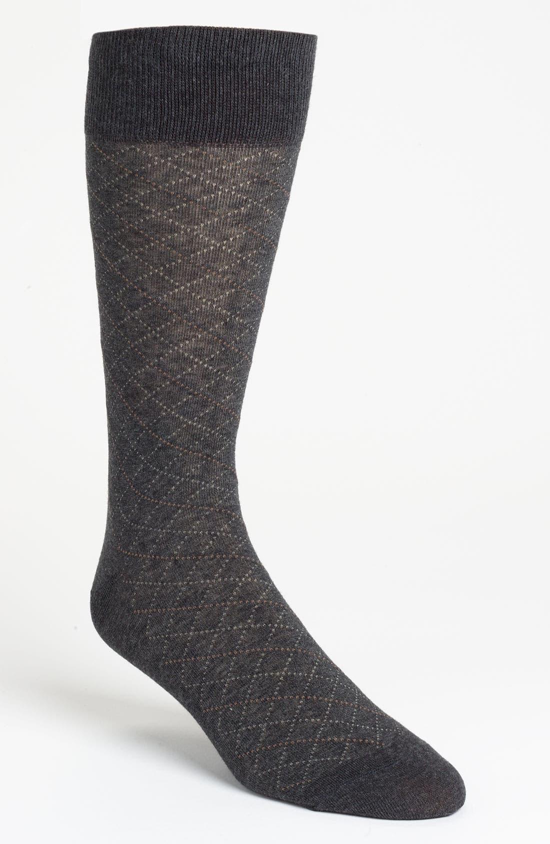 Alternate Image 1 Selected - Cole Haan Grid Socks