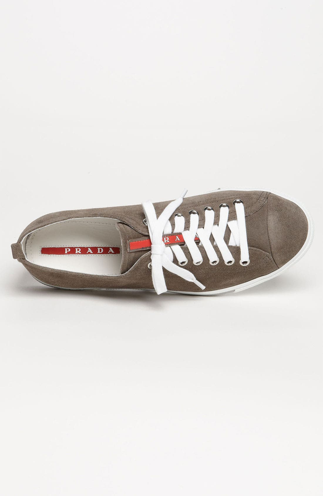 Alternate Image 3  - Prada Low Profile Suede Sneaker