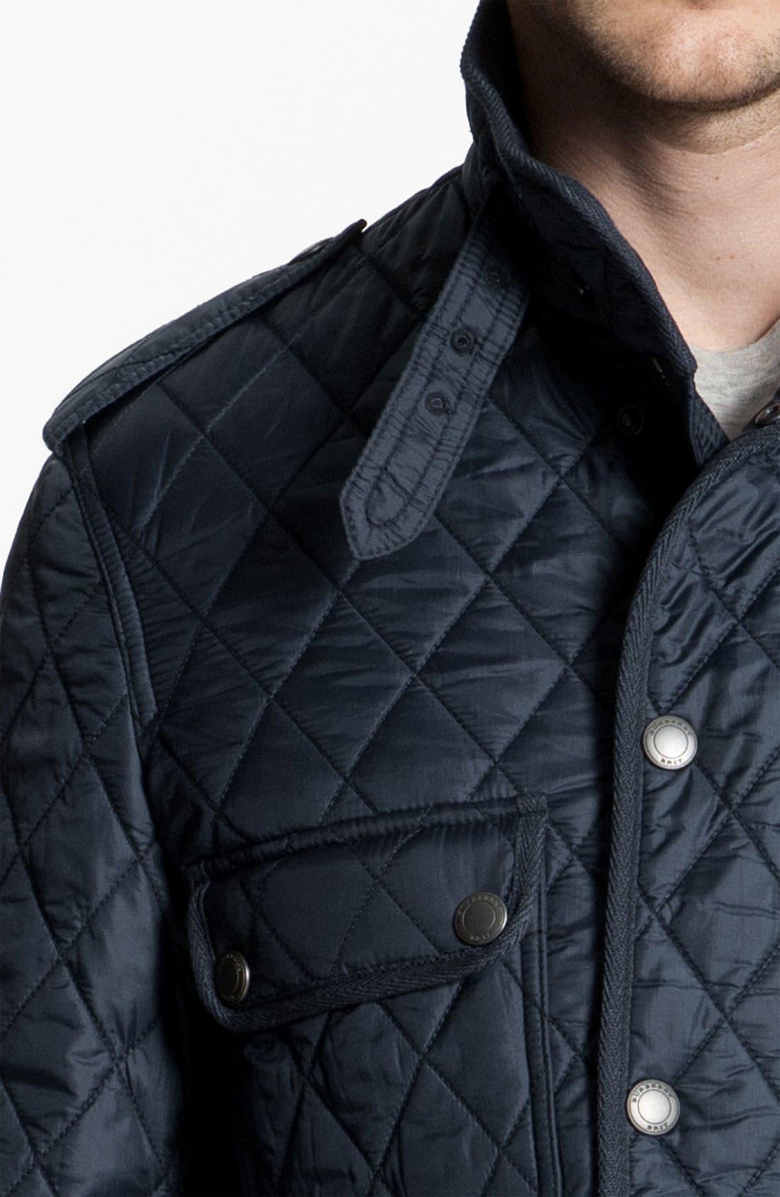 Alternate Image 3  - Burberry Brit Quilted Trim Fit Jacket