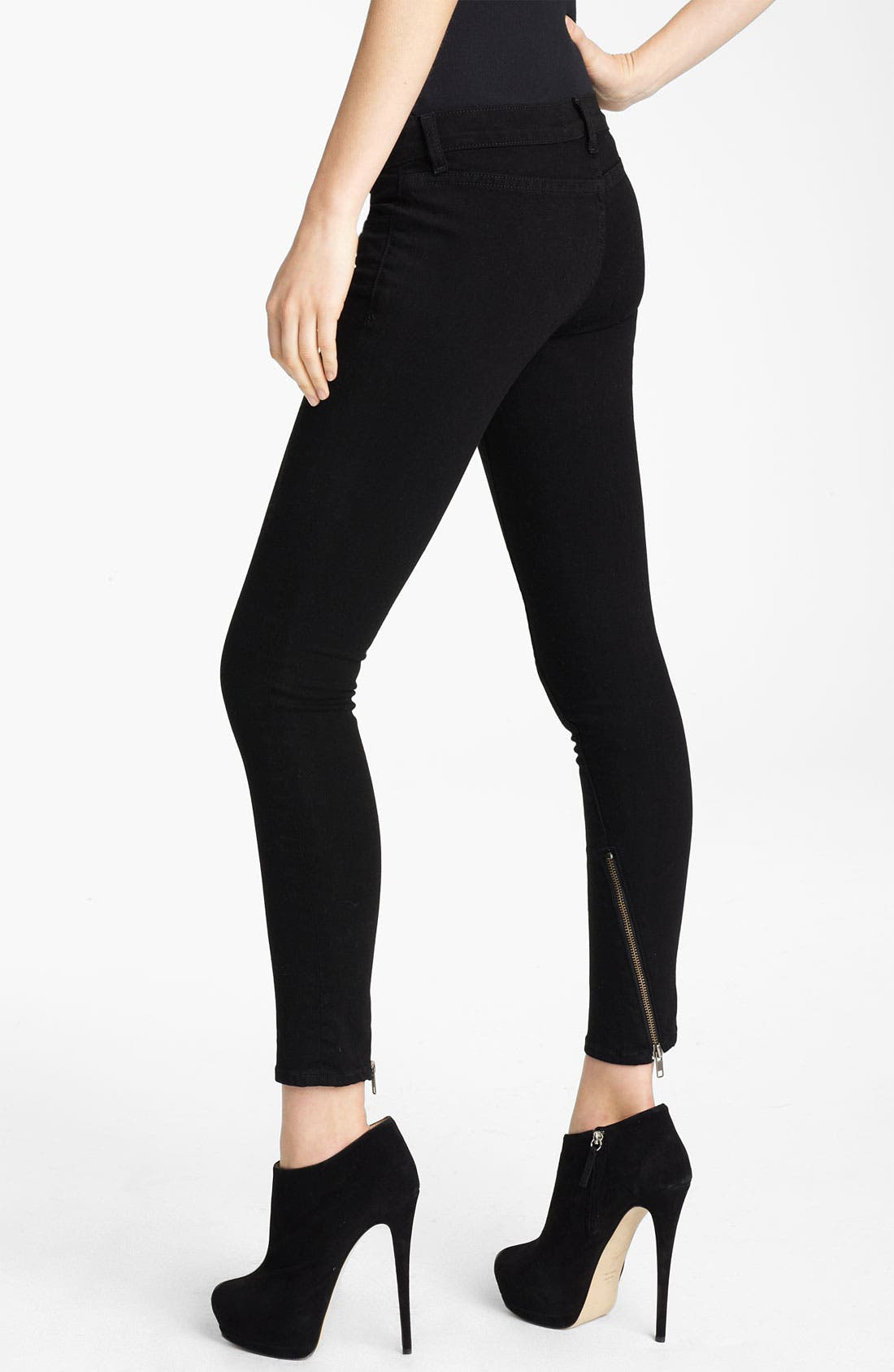 Alternate Image 1 Selected - J Brand + Christopher Kane Overdyed Skinny Stretch Jeans