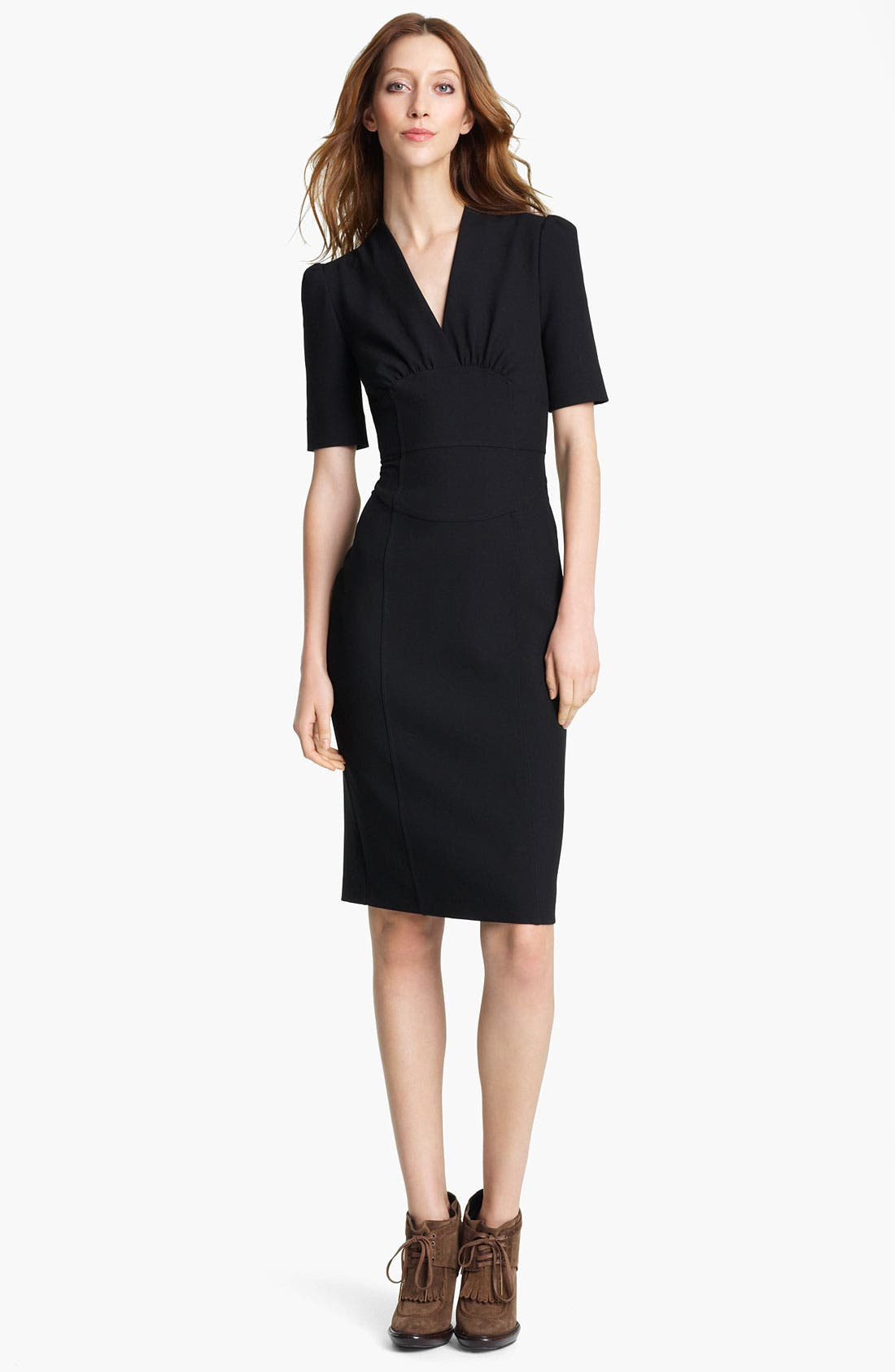 Main Image - Burberry London V-Neck Woven Dress
