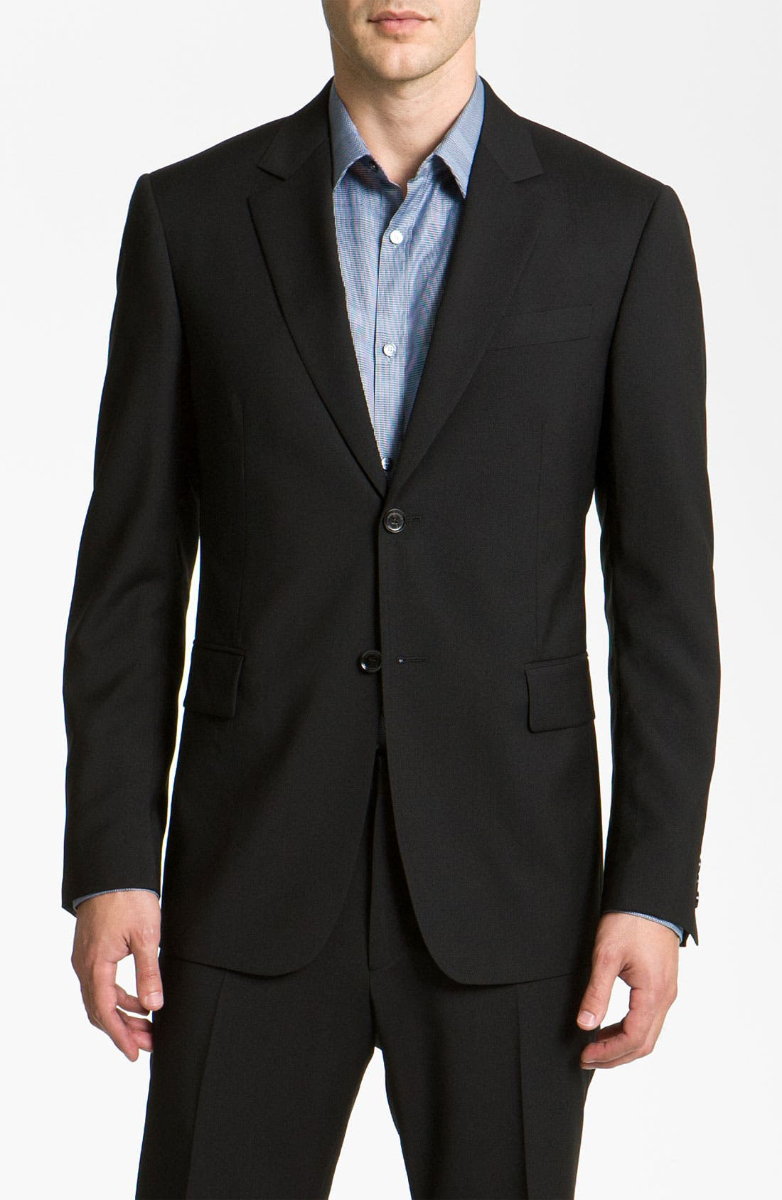 Alternate Image 1 Selected - Burberry Trim Fit Wool Suit