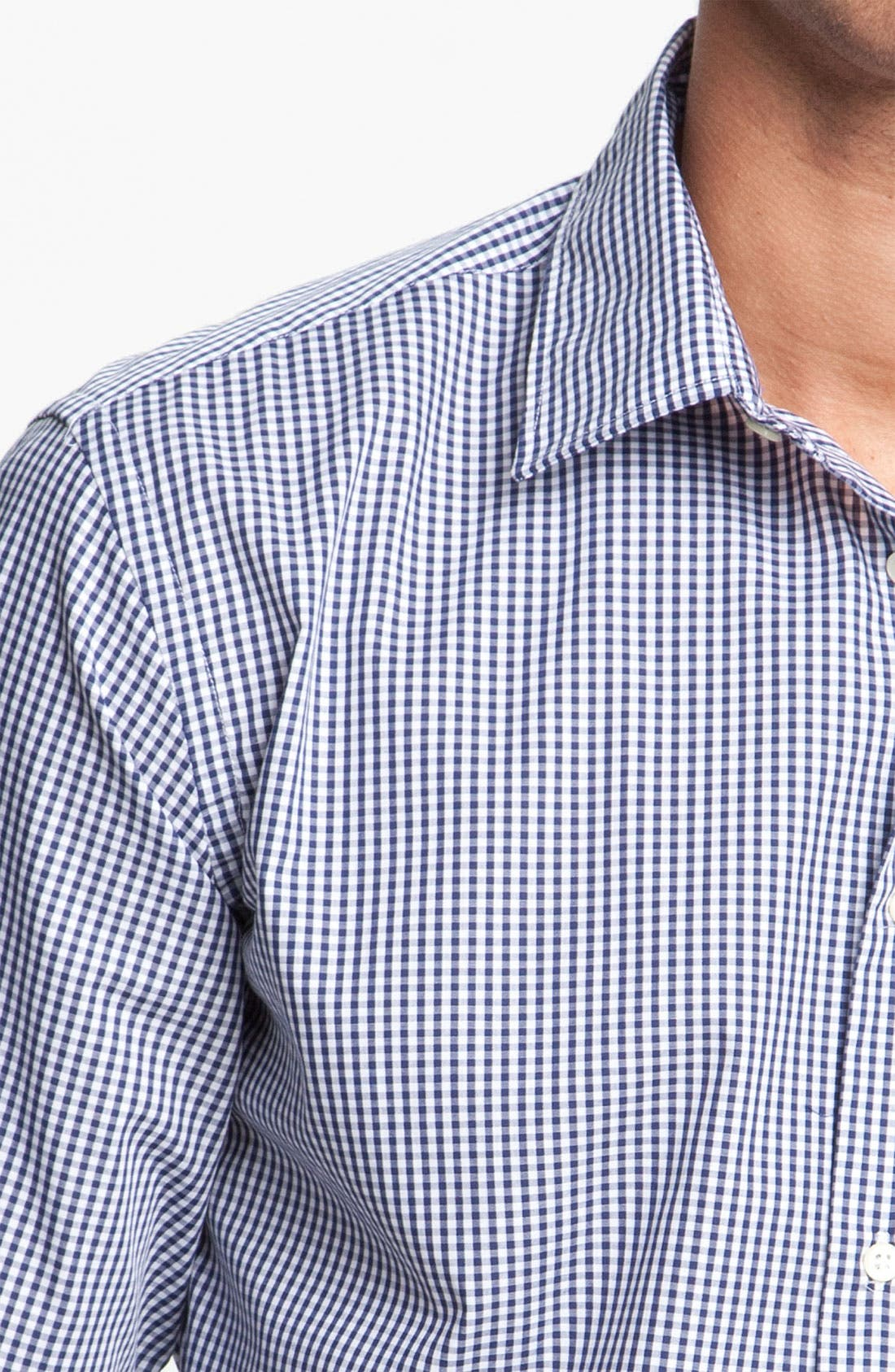 Alternate Image 3  - Mason's Micro Gingham Cotton Shirt