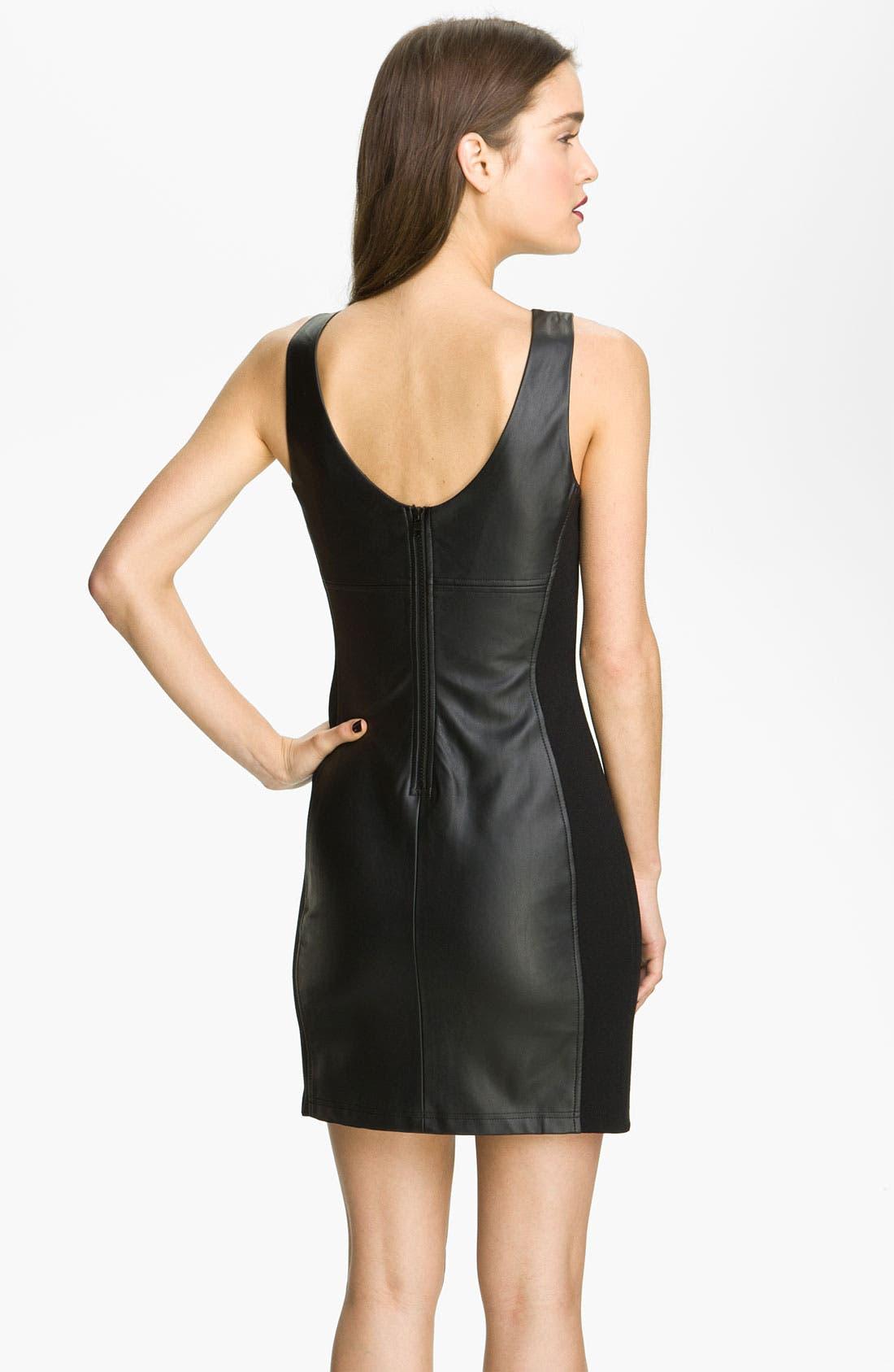 Alternate Image 2  - Sanctuary Faux Leather Shift Dress