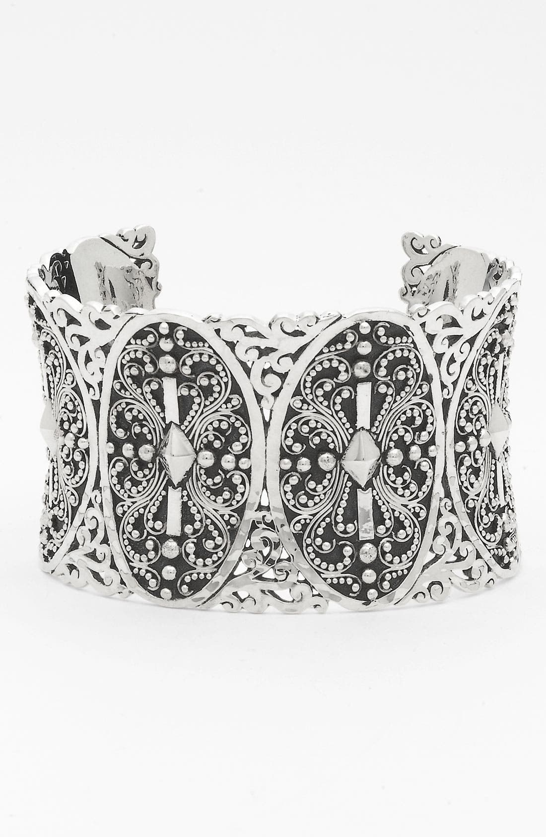 Alternate Image 1 Selected - Lois Hill 'Haveli' Wide Granulated & Cutout Cuff
