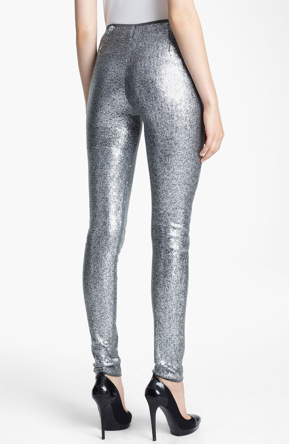 Alternate Image 2  - Donna Karan Collection Sequin Jersey Leggings