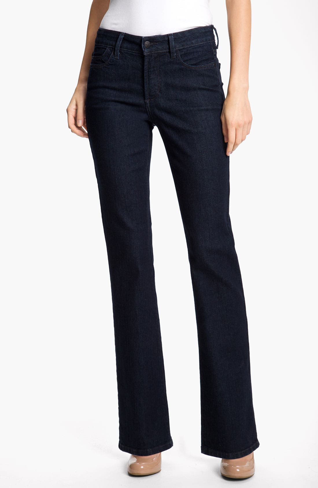 Alternate Image 1 Selected - NYDJ 'Barbara' Stretch Bootcut Jeans (Dark Enzyme) (Petite)