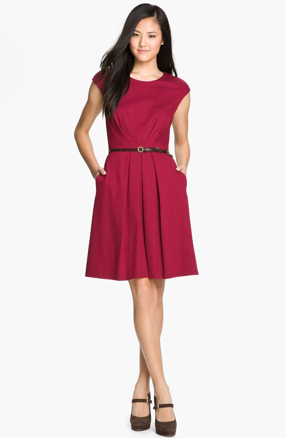 Alternate Image 3  - Maggy London Belted Ponte Knit Fit & Flare Dress