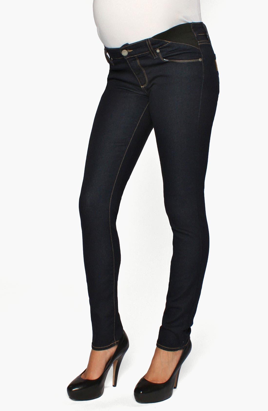 Alternate Image 2  - Paige Denim 'Union Skyline' Maternity Skinny Jeans (Capri)