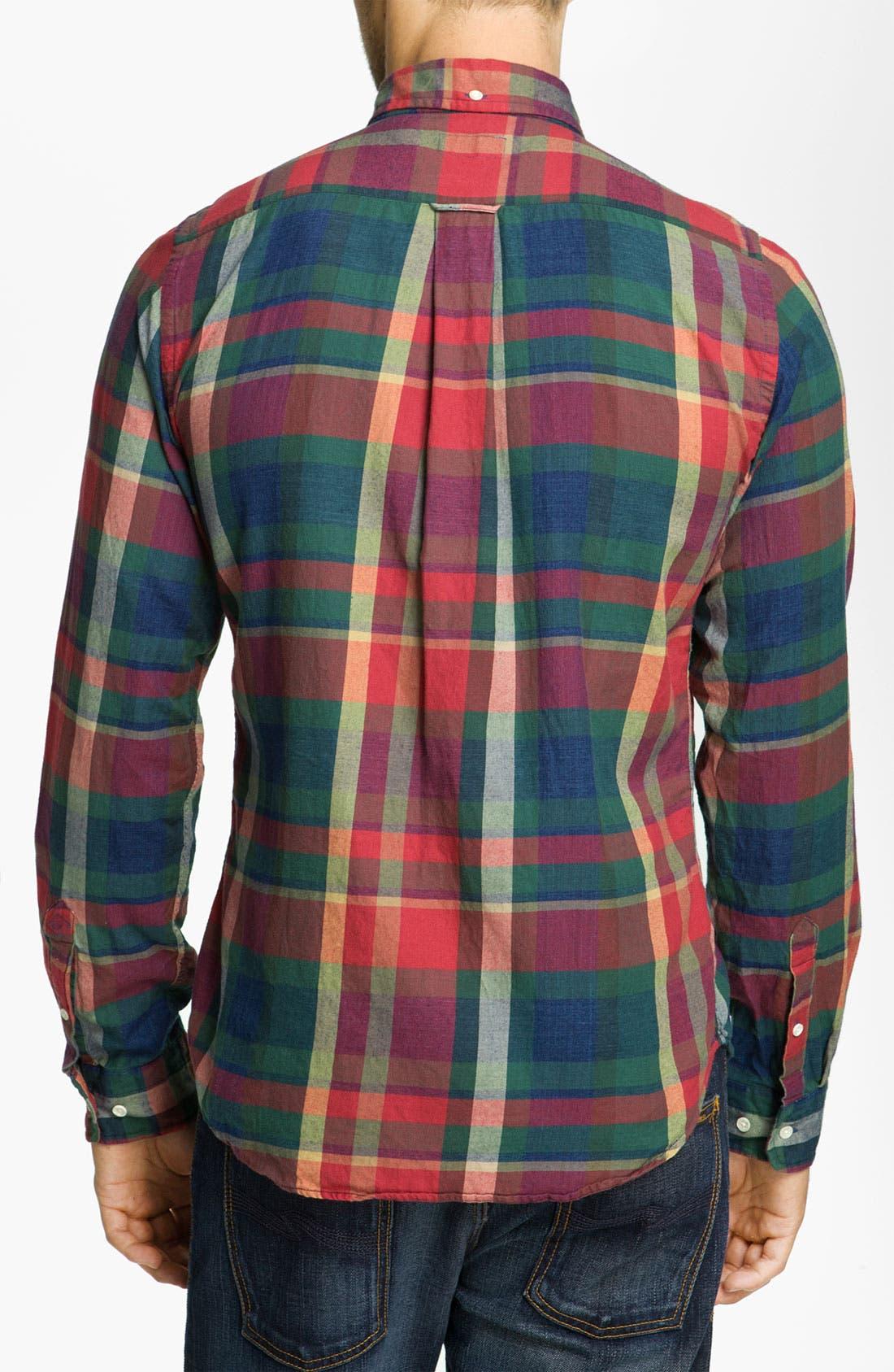 Alternate Image 2  - Gant Rugger 'Indigo' Plaid Woven Shirt