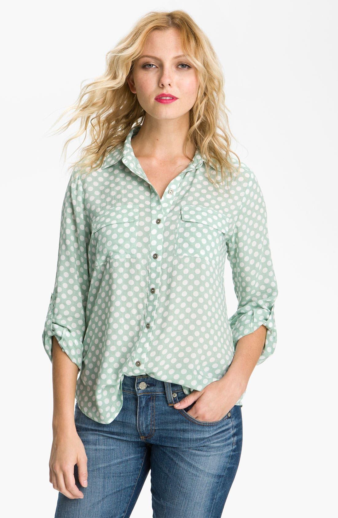 Main Image - Gibson Polka Dot Pocket Shirt