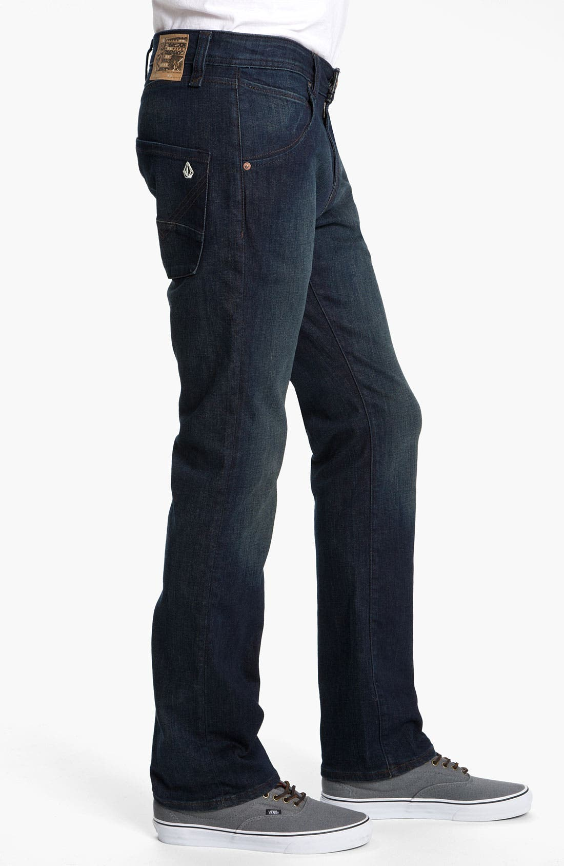 Alternate Image 3  - Volcom 'Nova' Slim Straight Leg Jeans (Dark Room Stretch) (Online Exclusive)