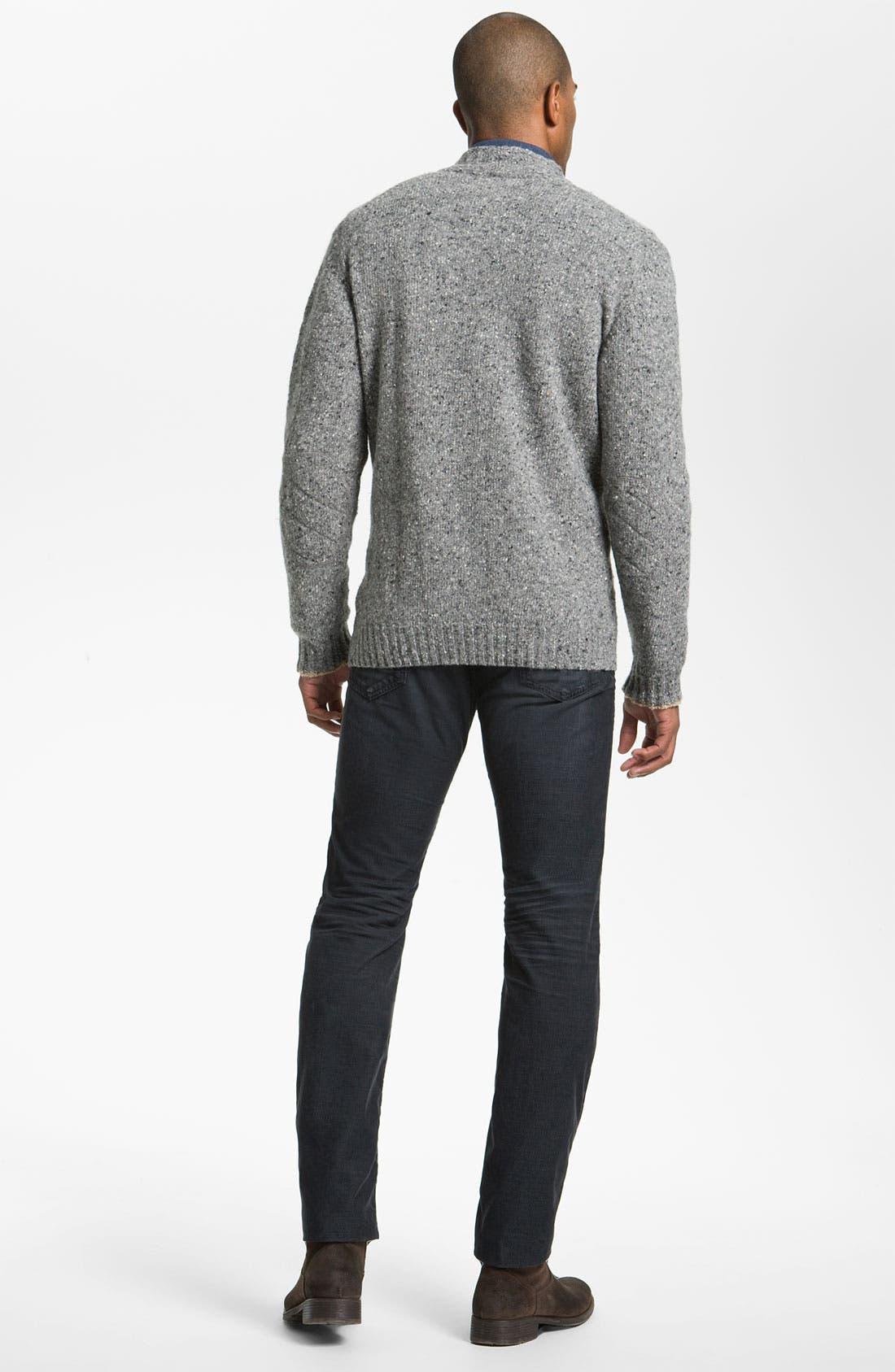 Alternate Image 5  - Hickey Freeman 'Donegal' Wool Blend Zip Cardigan