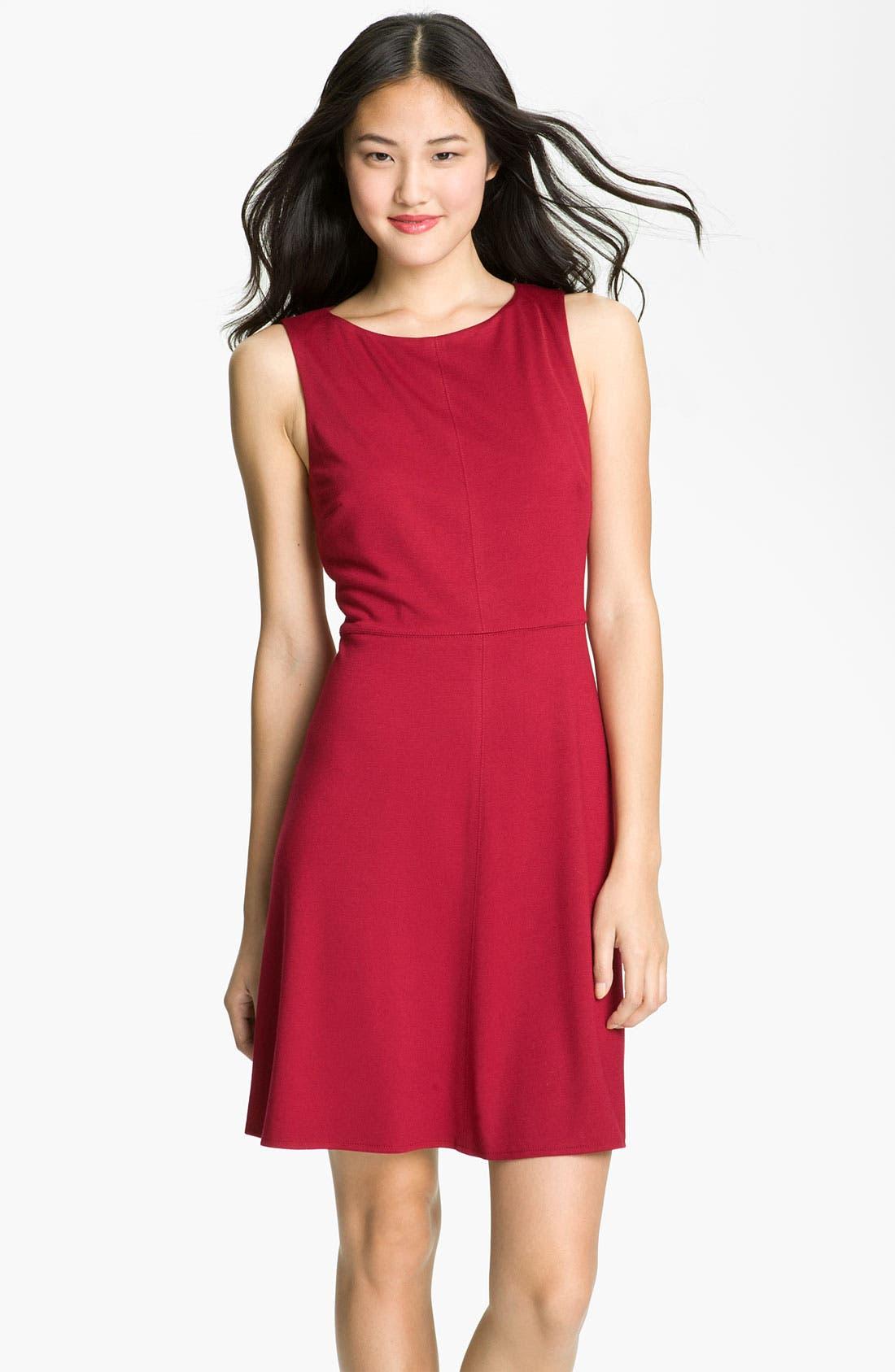 Main Image - Donna Morgan 'Mod' Exposed Zipper Fit & Flare Dress