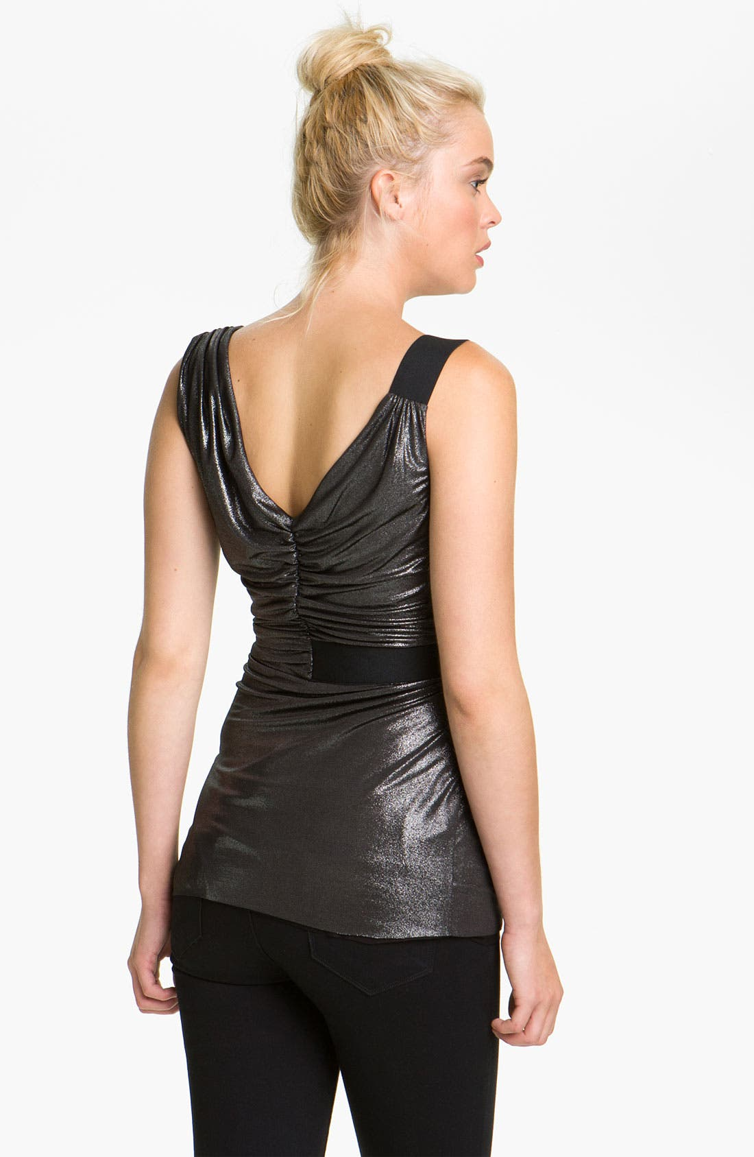 Alternate Image 2  - Bailey 44 Metallic Faux Wrap Tank