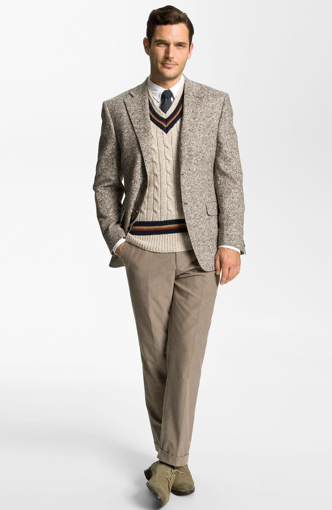 Alternate Image 4  - Canali 'Donnegal' Sportcoat