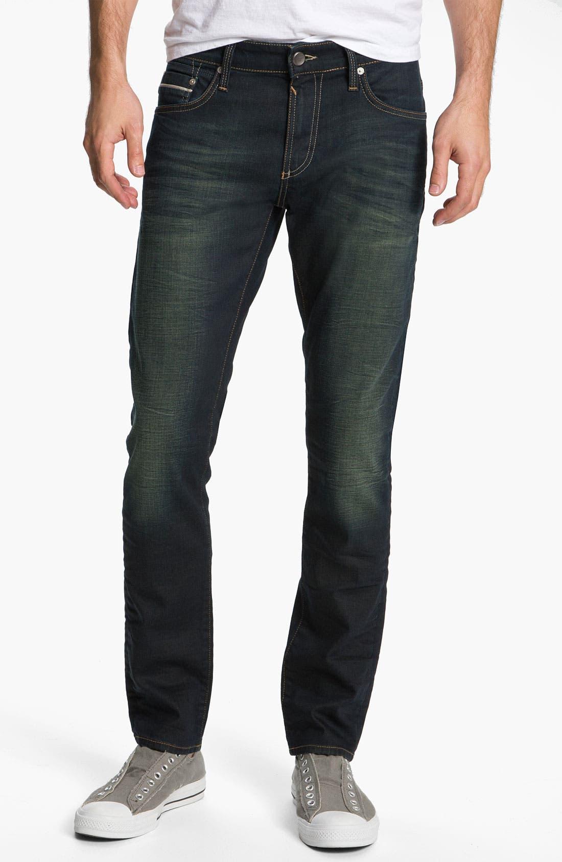 Alternate Image 1 Selected - Mavi Jeans 'Jake' Slim Fit Jeans (Smoke White Edge)
