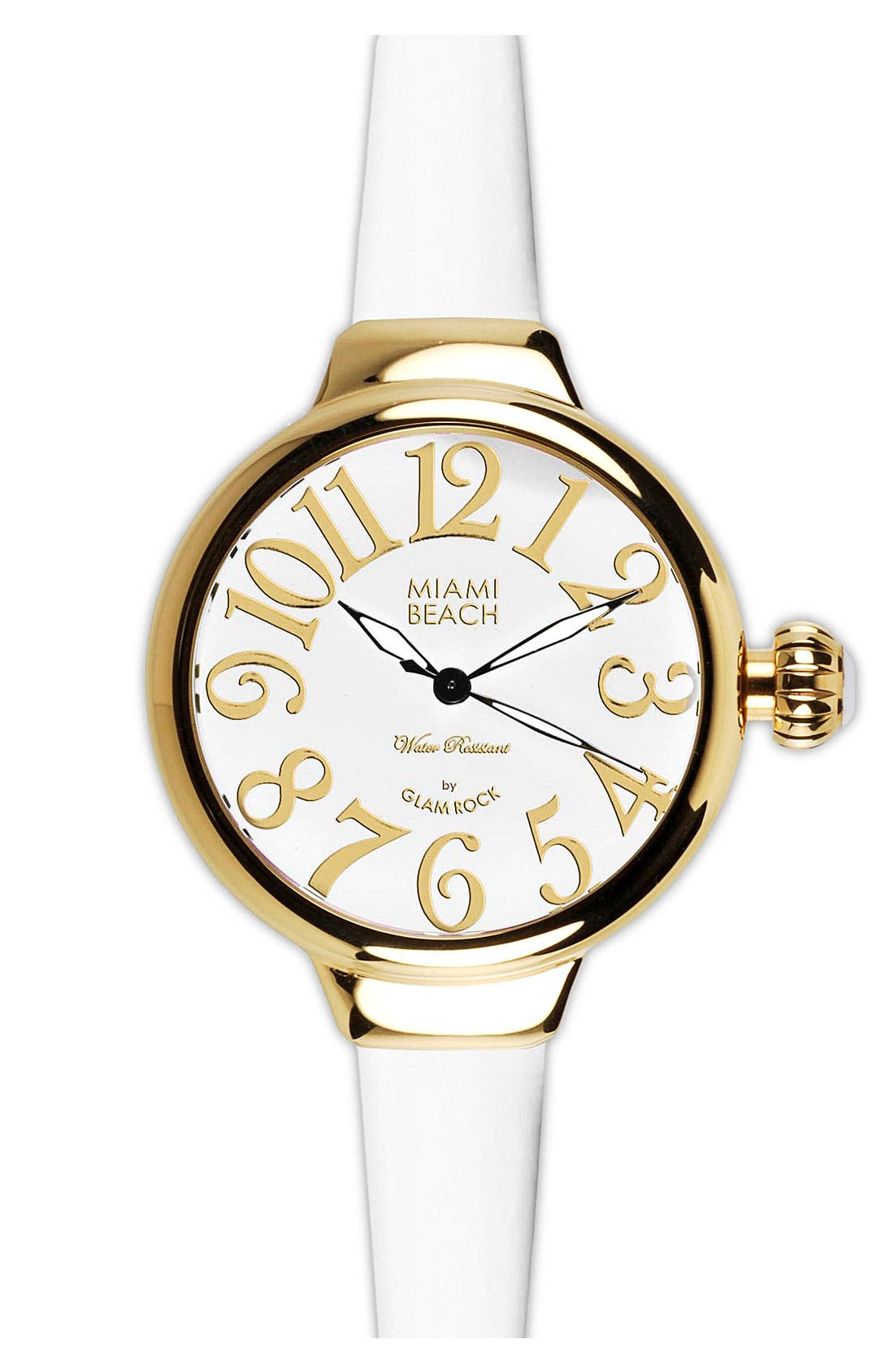 Alternate Image 1 Selected - Miami Beach by Glam Rock Round Silicone Strap Watch
