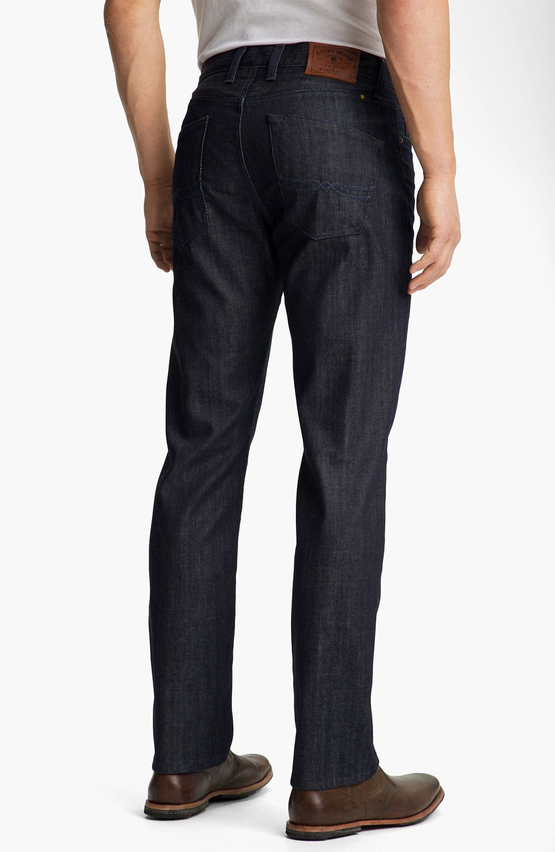 Alternate Image 2  - Lucky Brand '221 Original' Straight Leg Jeans (Dark Hickory)