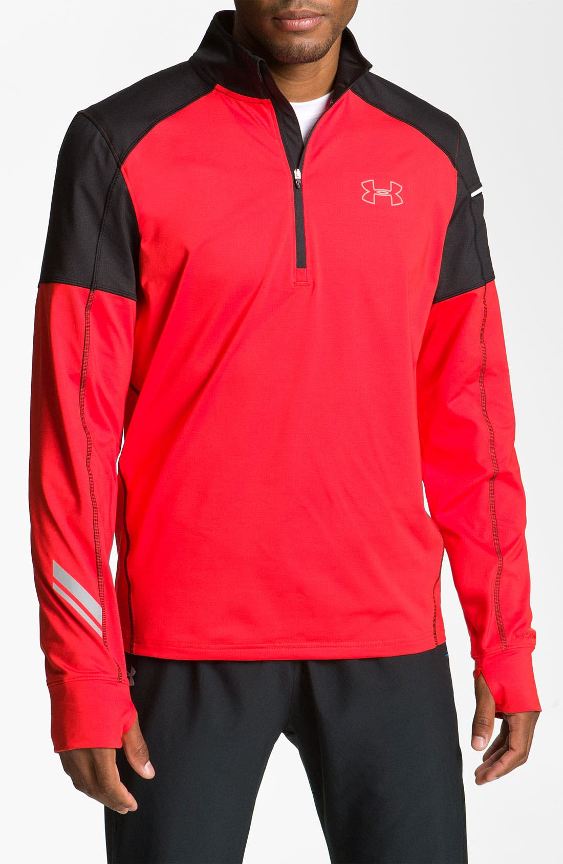 Alternate Image 1 Selected - Under Armour 'Storm Run' Fitted Quarter Zip Pullover