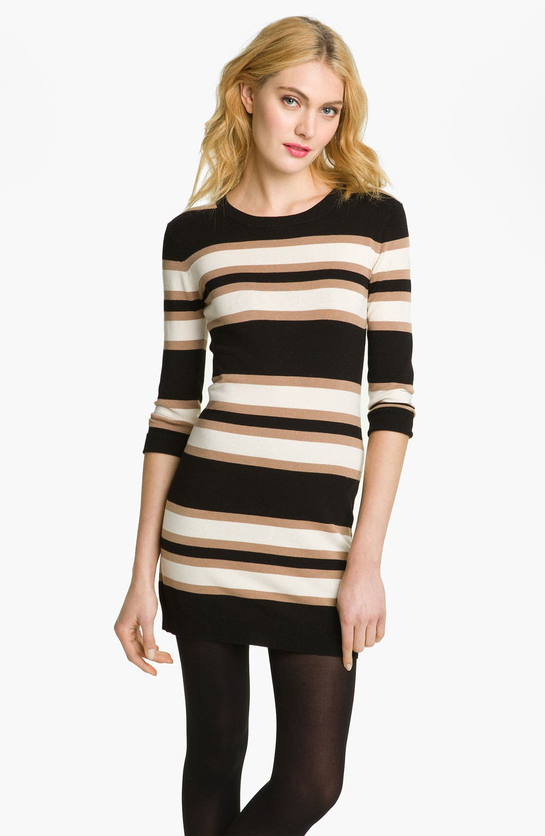 Main Image - French Connection 'Bambi Knits' Multi Stripe Sweater Dress