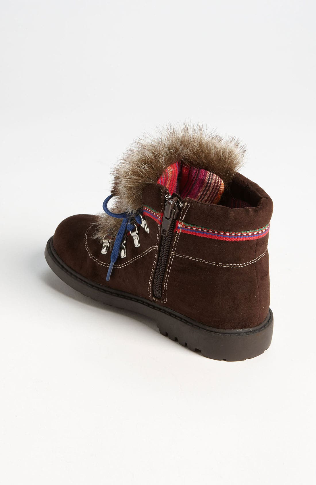 Alternate Image 2  - Stuart Weitzman 'Doodle' Faux Fur Trim Boot (Walker, Toddler, Little Kid & Big Kid)