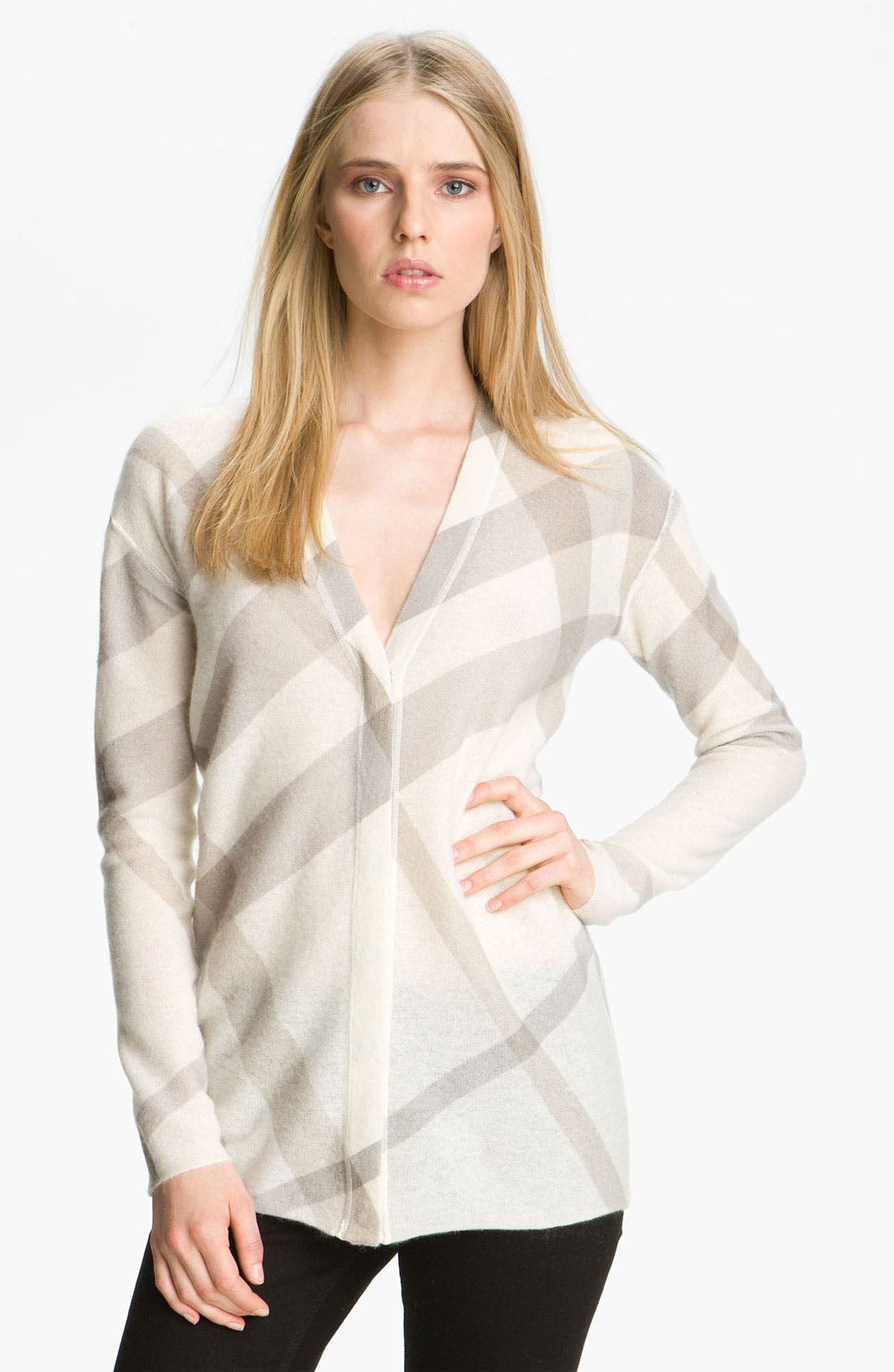 Main Image - Burberry Brit Reversible Wool & Cashmere Cardigan