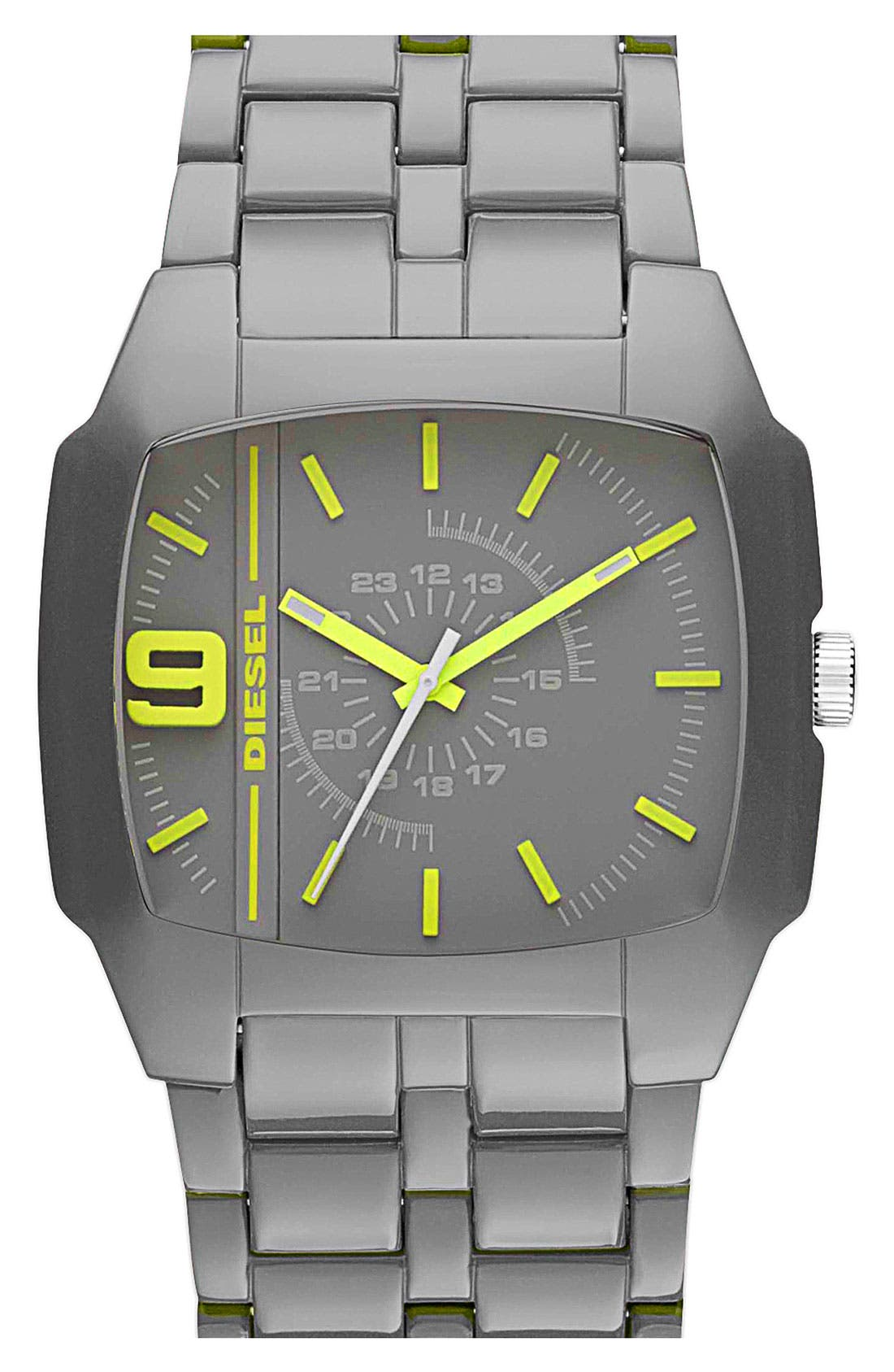 Alternate Image 1 Selected - DIESEL® Square Plastic Bracelet Watch