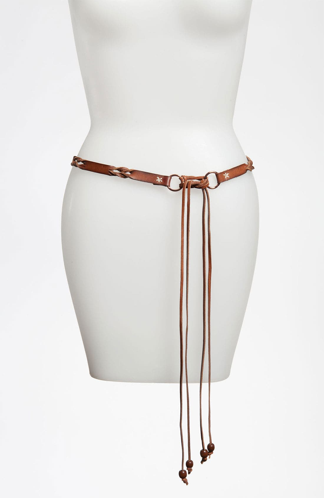 Alternate Image 1 Selected - Linea Pelle Patterned Leather Belt