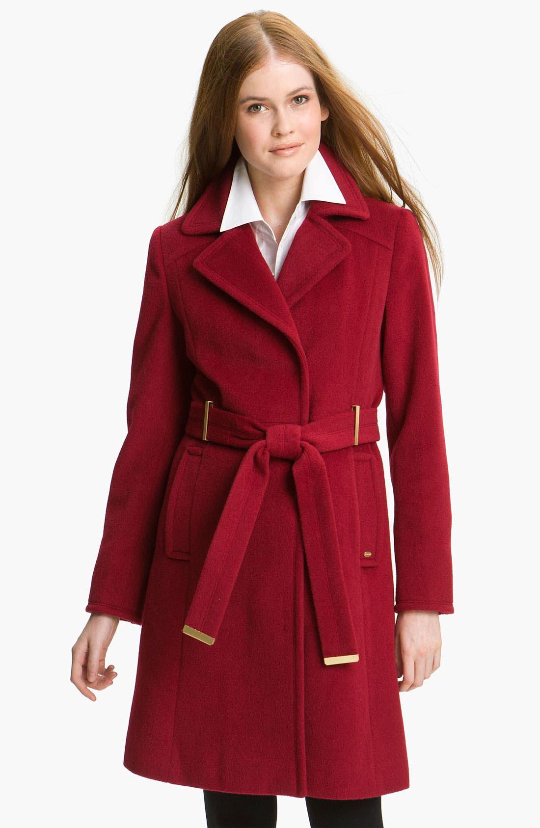 Alternate Image 1 Selected - Ellen Tracy Belted Wrap Coat