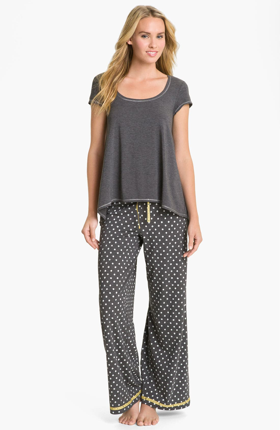 Alternate Image 4  - Hue 'Watercolor Dot' Pajama Pants