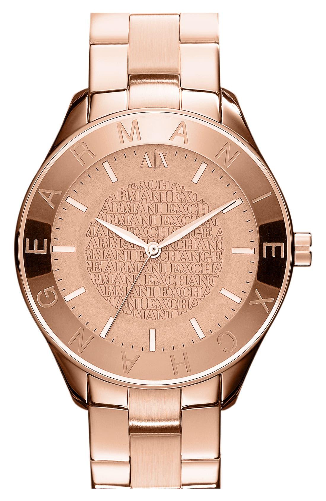 Main Image - AX Armani Exchange Round Bracelet Watch, 40mm (Online Only)