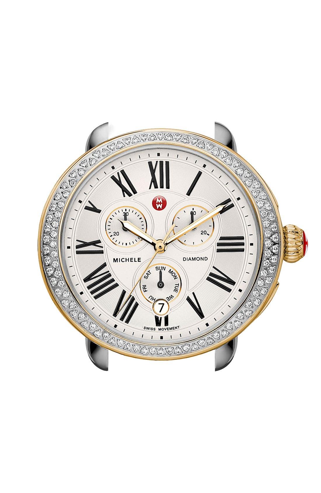MICHELE Serein Diamond Two-Tone Watch Case, 40mm x 38mm