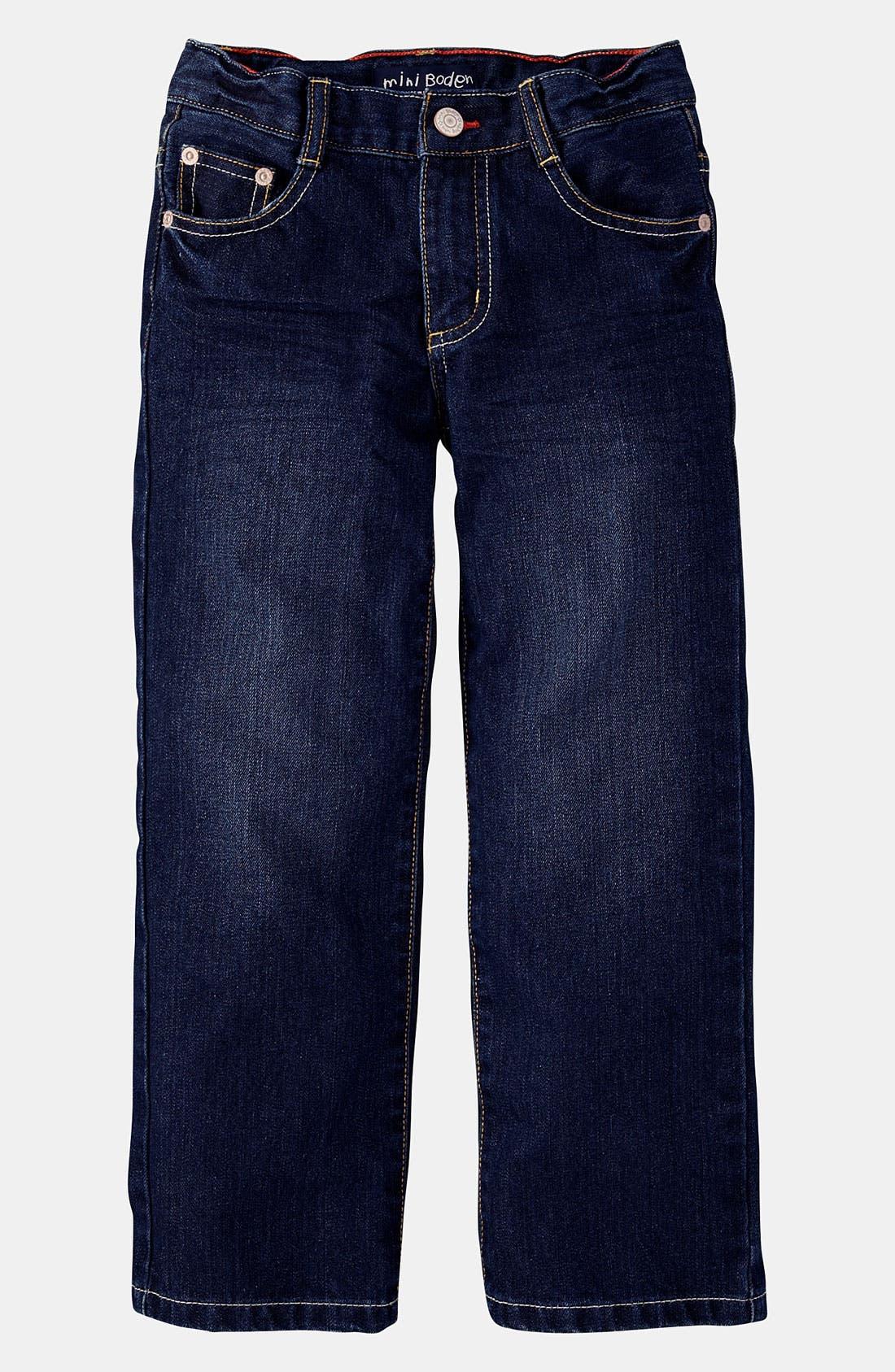 Alternate Image 1 Selected - Mini Boden Regular Fit Jeans (Little Boys & Big Boys)