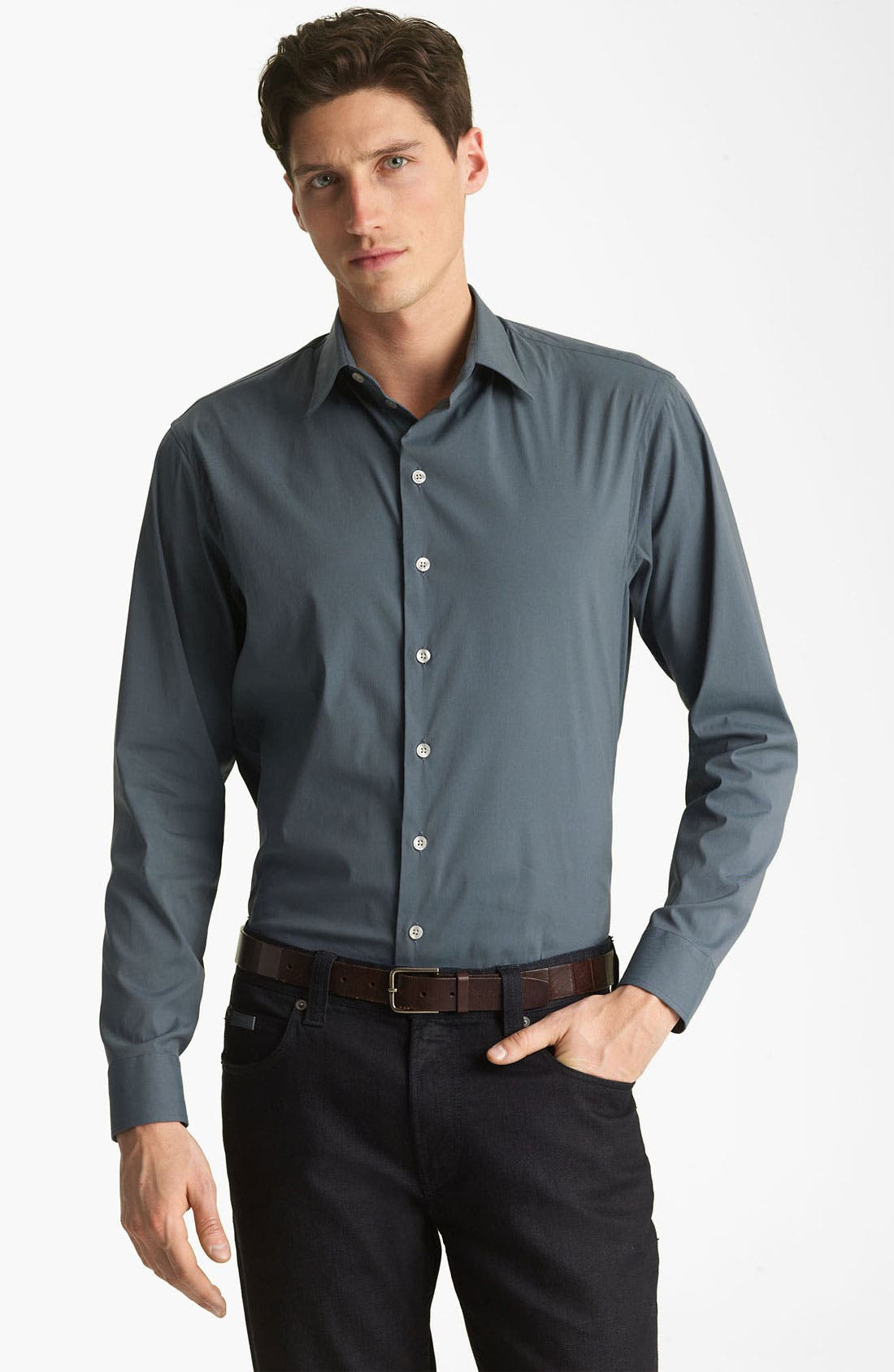 Alternate Image 1 Selected - Armani Collezioni Stretch Sport Shirt