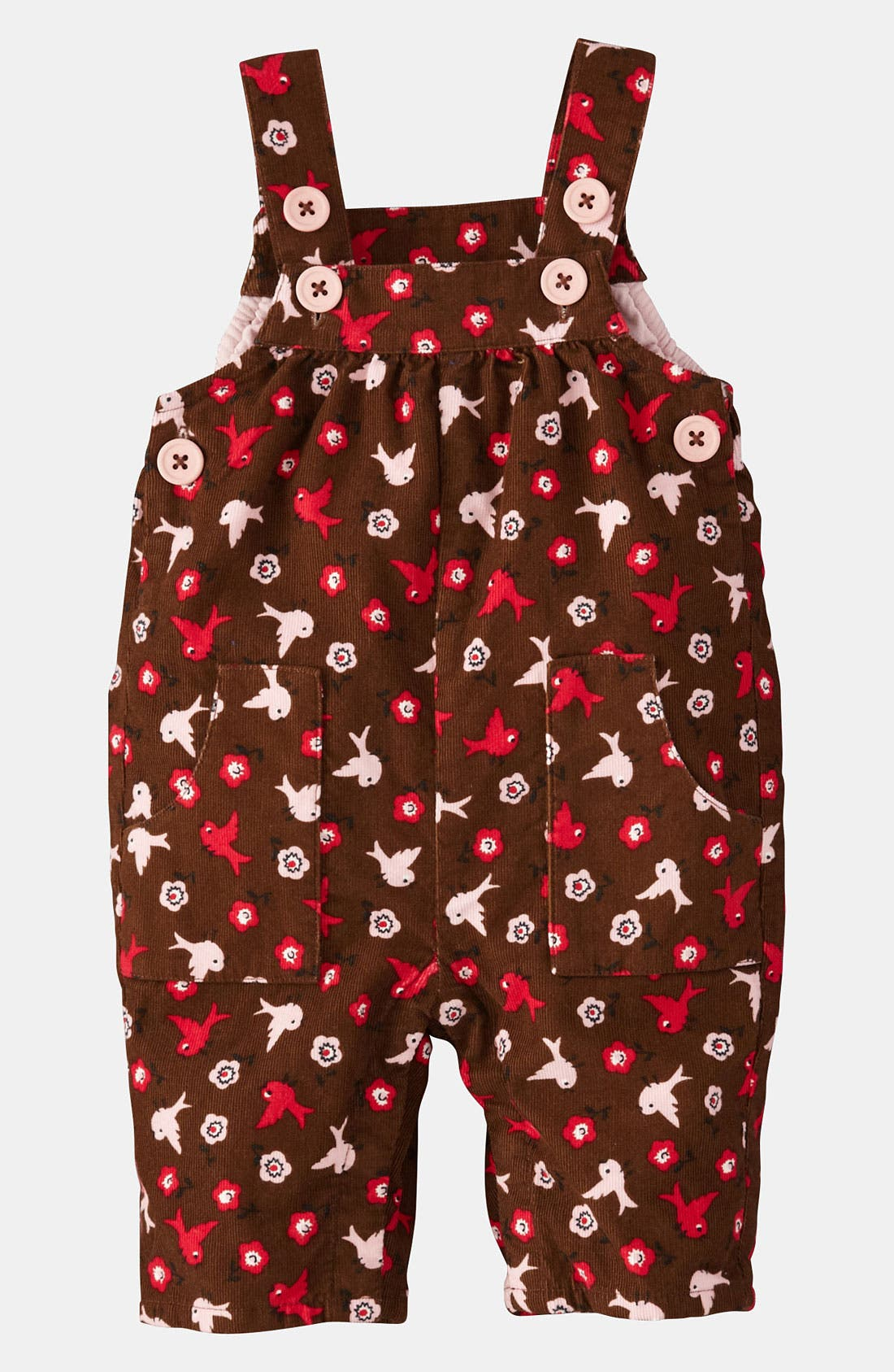 Alternate Image 1 Selected - Mini Boden 'Fun' Overalls (Infant)
