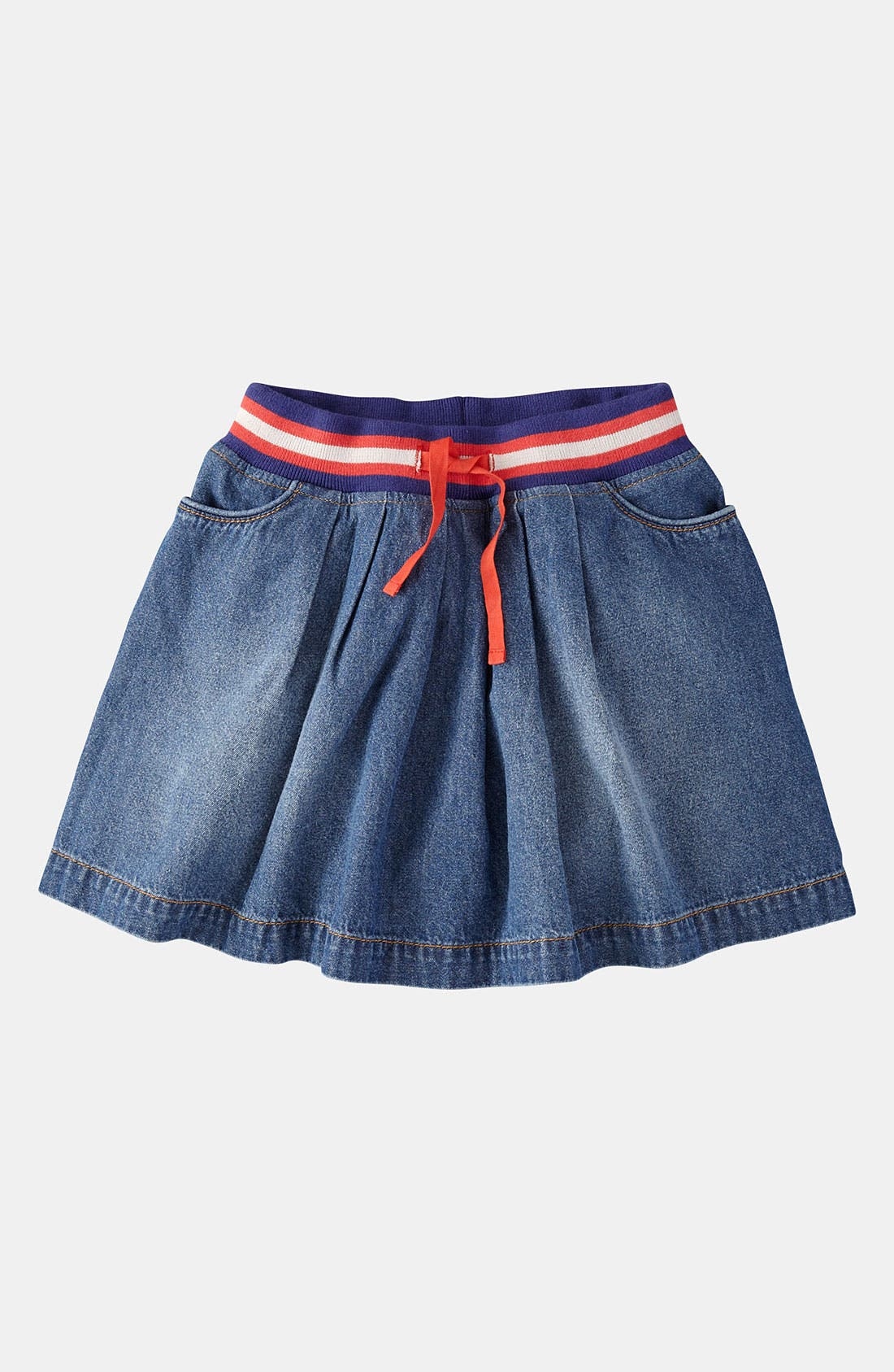 Main Image - Mini Boden Ribbed Waist Skirt (Little Girls & Big Girls)