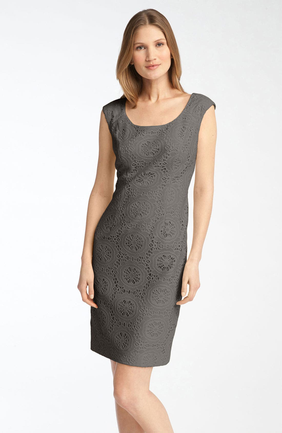 Alternate Image 1 Selected - Adrianna Papell Crochet Sheath Dress