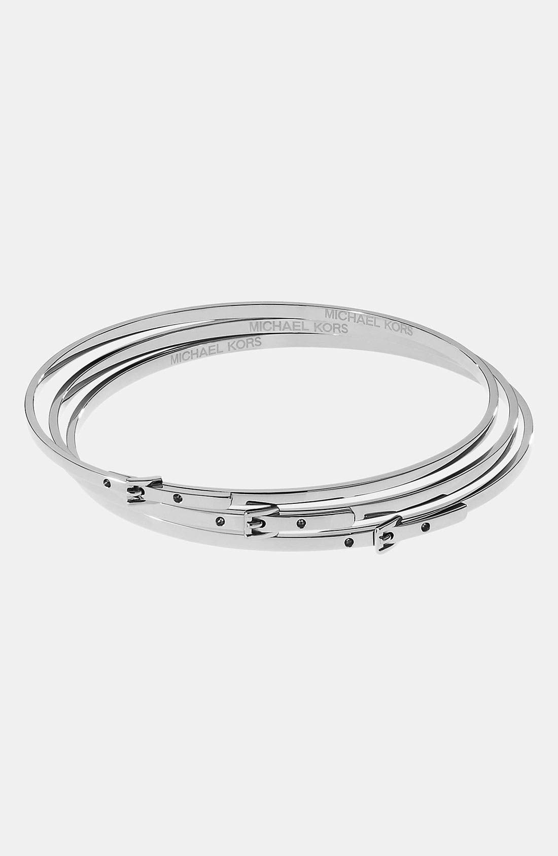Main Image - Michael Kors Buckle Bangles (Set of 3)