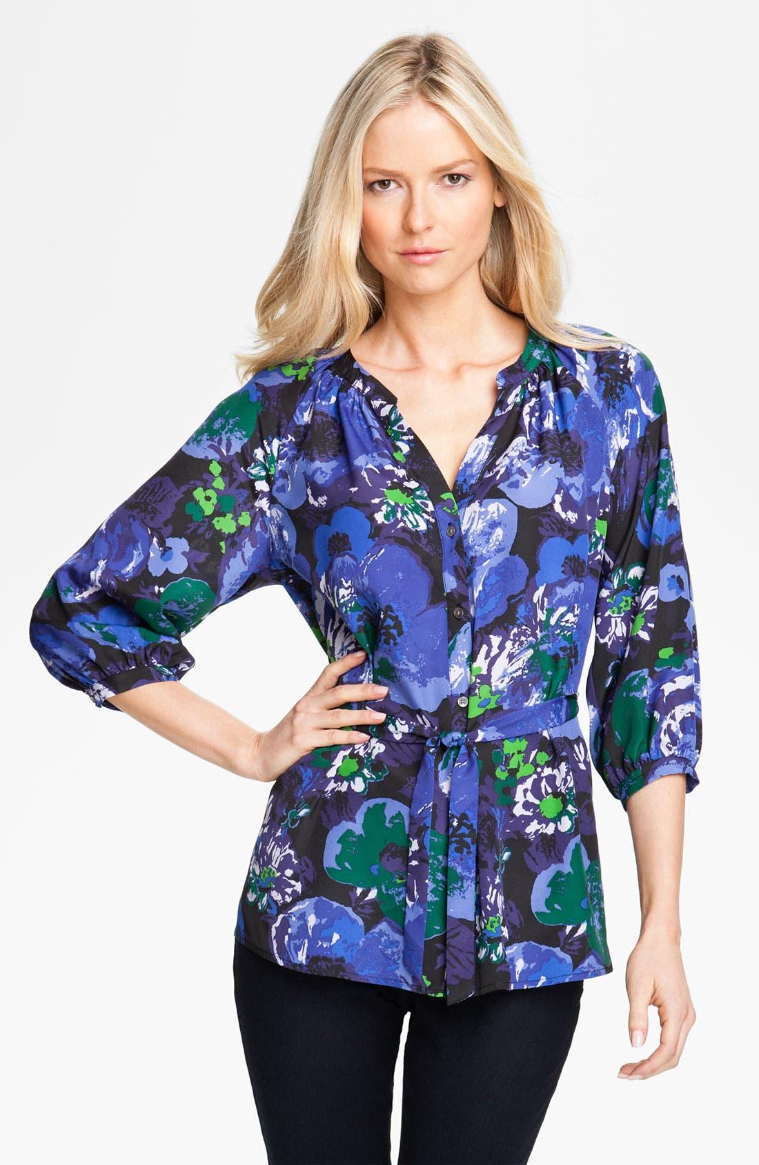 Alternate Image 1 Selected - Isaac Mizrahi Jeans 'Effie' Floral Print Blouse