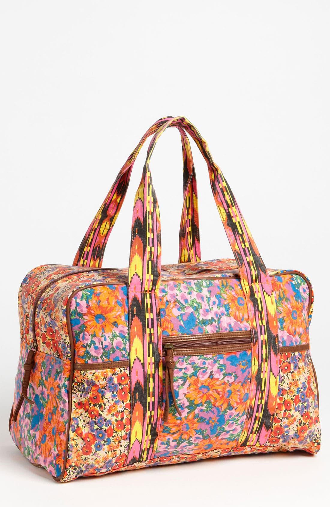 Alternate Image 1 Selected - Lulu Mix Print Duffel Bag (Juniors)