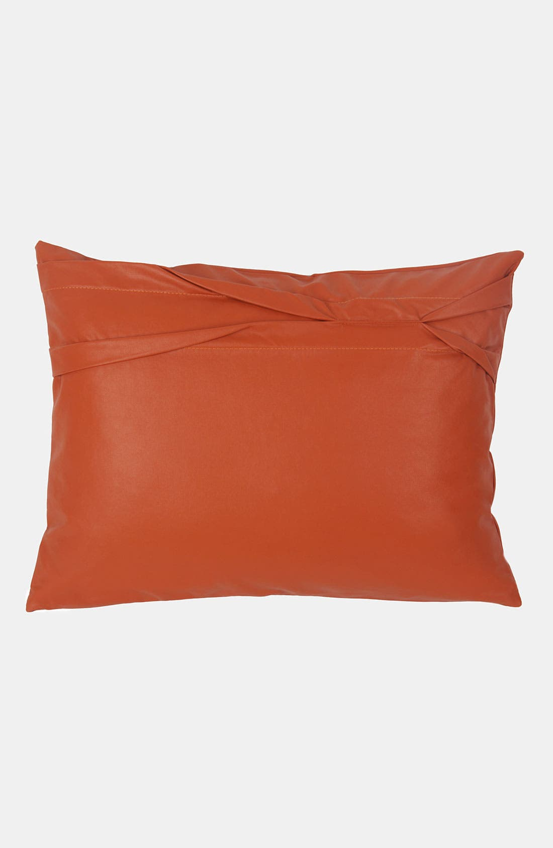 Main Image - Blissliving Home 'Theo - Persimmon' Faux Leather Pillow (Online Only)