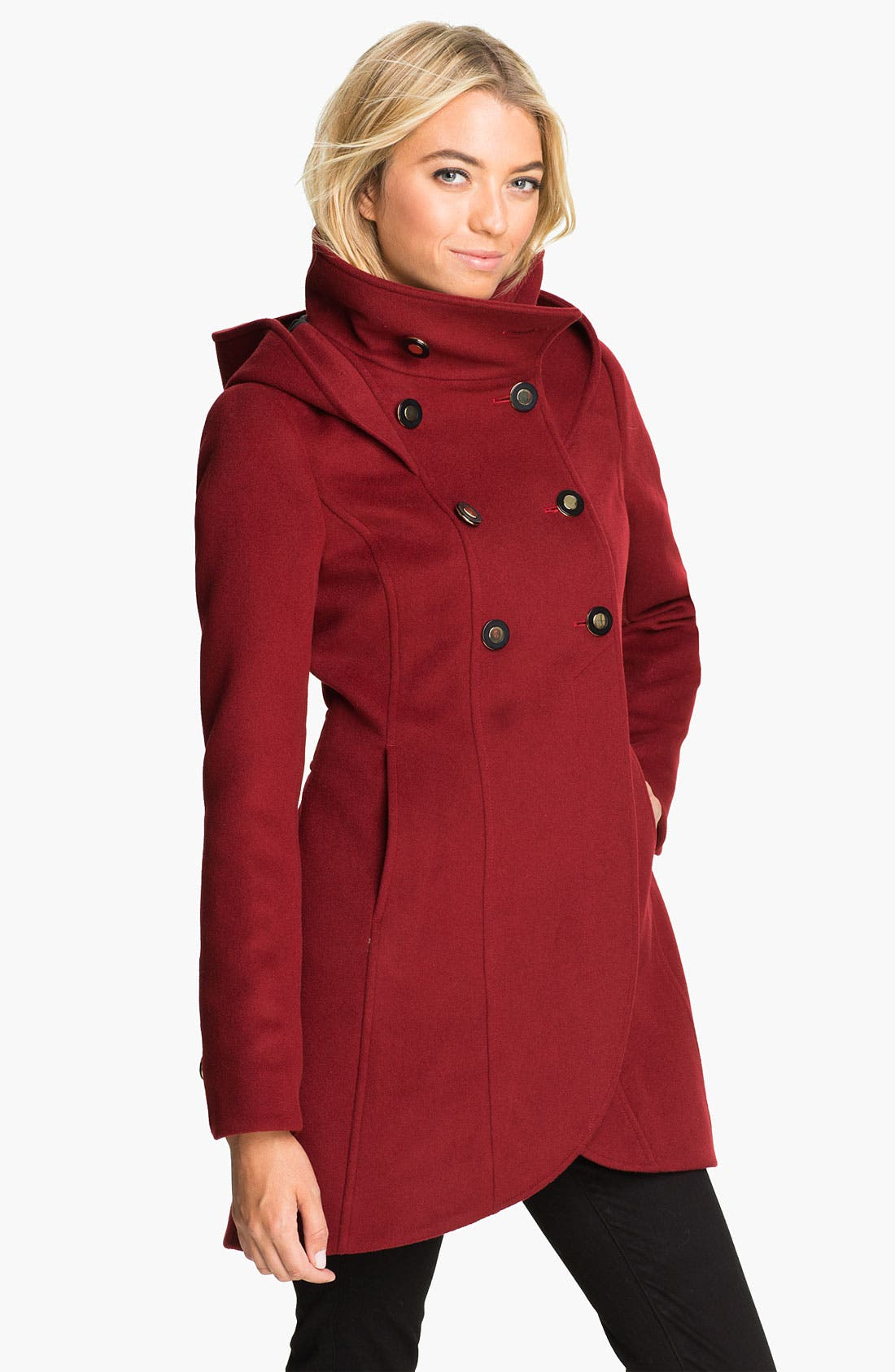 Alternate Image 1 Selected - Soïa & Kyo Hooded Wool Coat